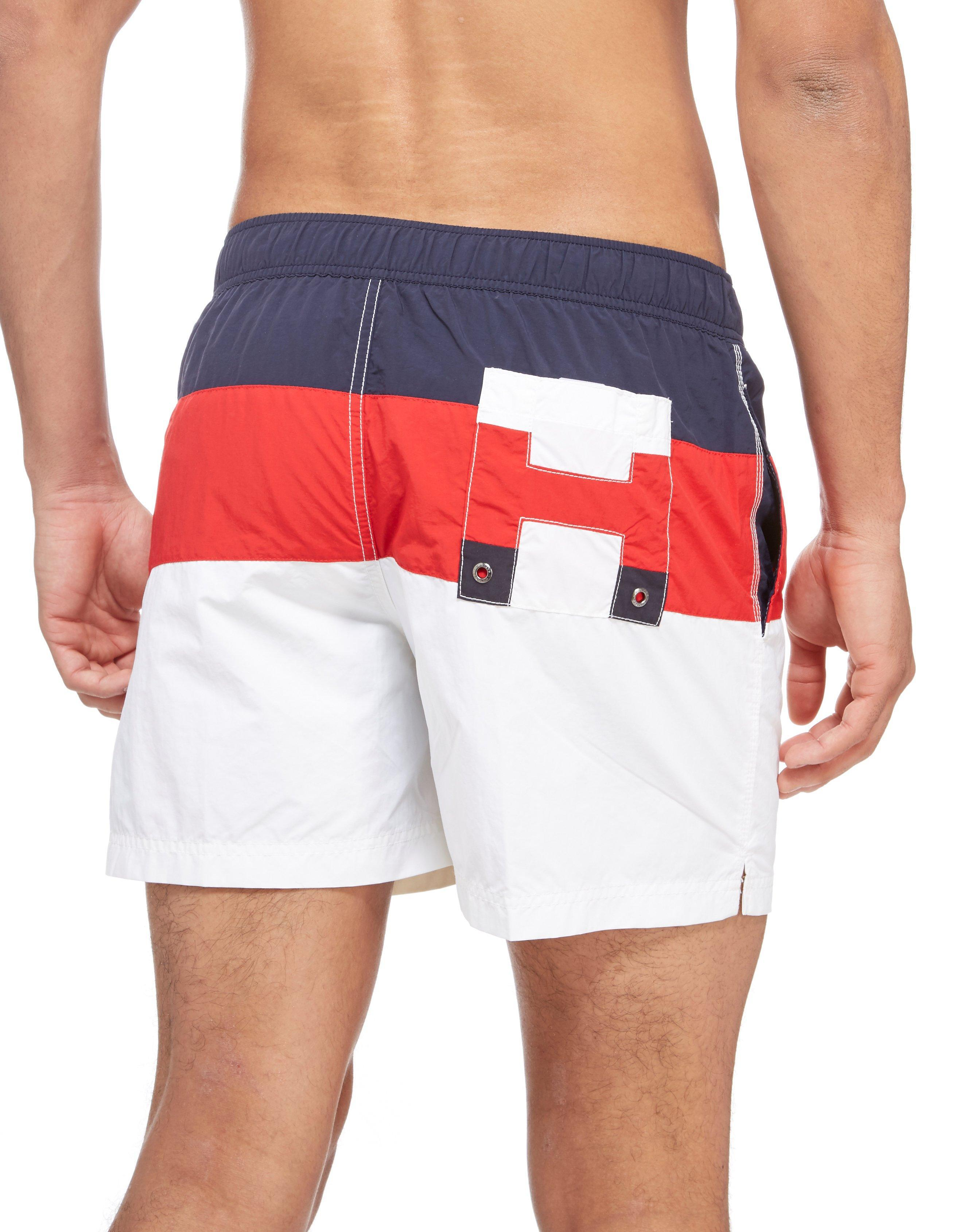 Colour-Blocked Logo Shorts - Sales Up to -50% Tommy Hilfiger aq5X7tJI