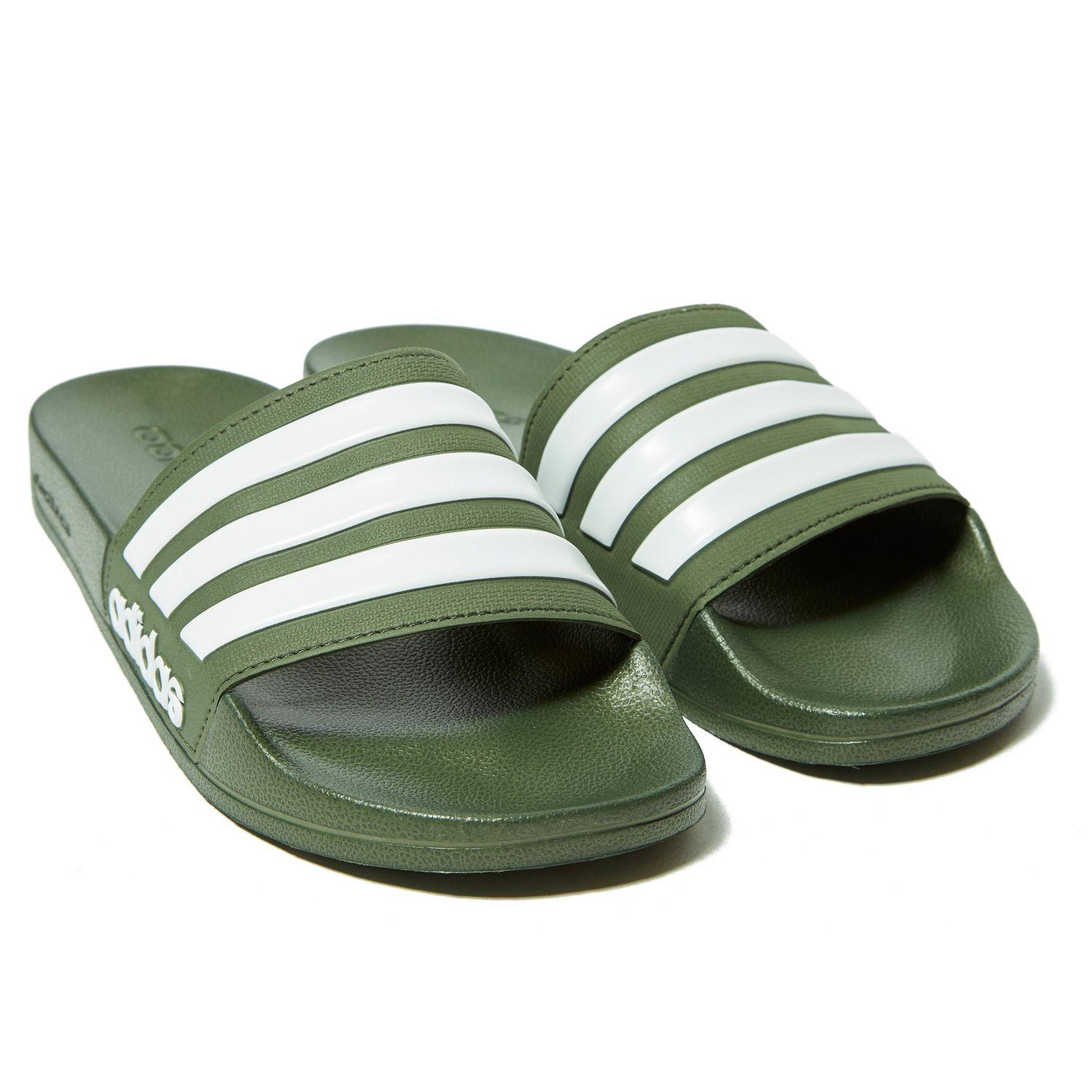 649a2bbeb5c5e7 Adidas - Green Cloudfoam Adilette Slides for Men - Lyst. View fullscreen