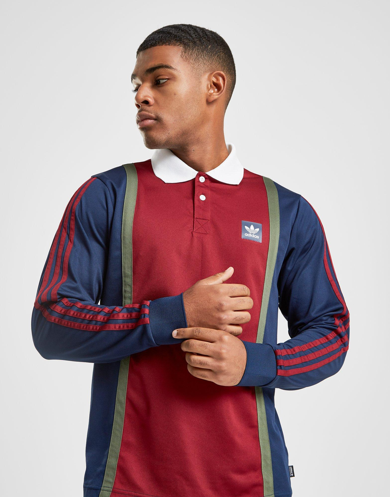 ae7aaa36cef adidas Originals Skateboarding Rugby Top in Blue for Men - Lyst