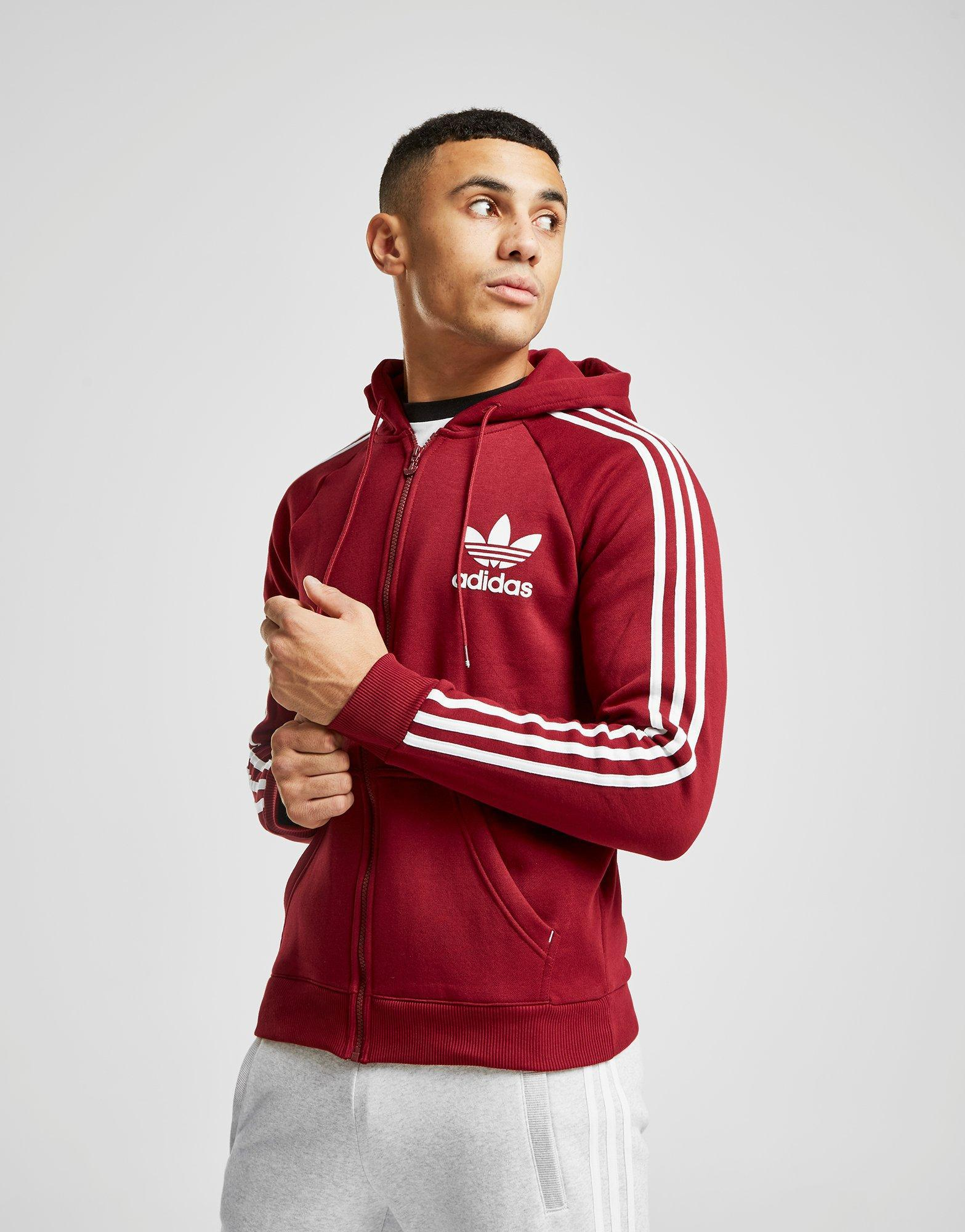 f474f854e8a7 adidas Originals California Full Zip Hoodie in Red for Men - Lyst