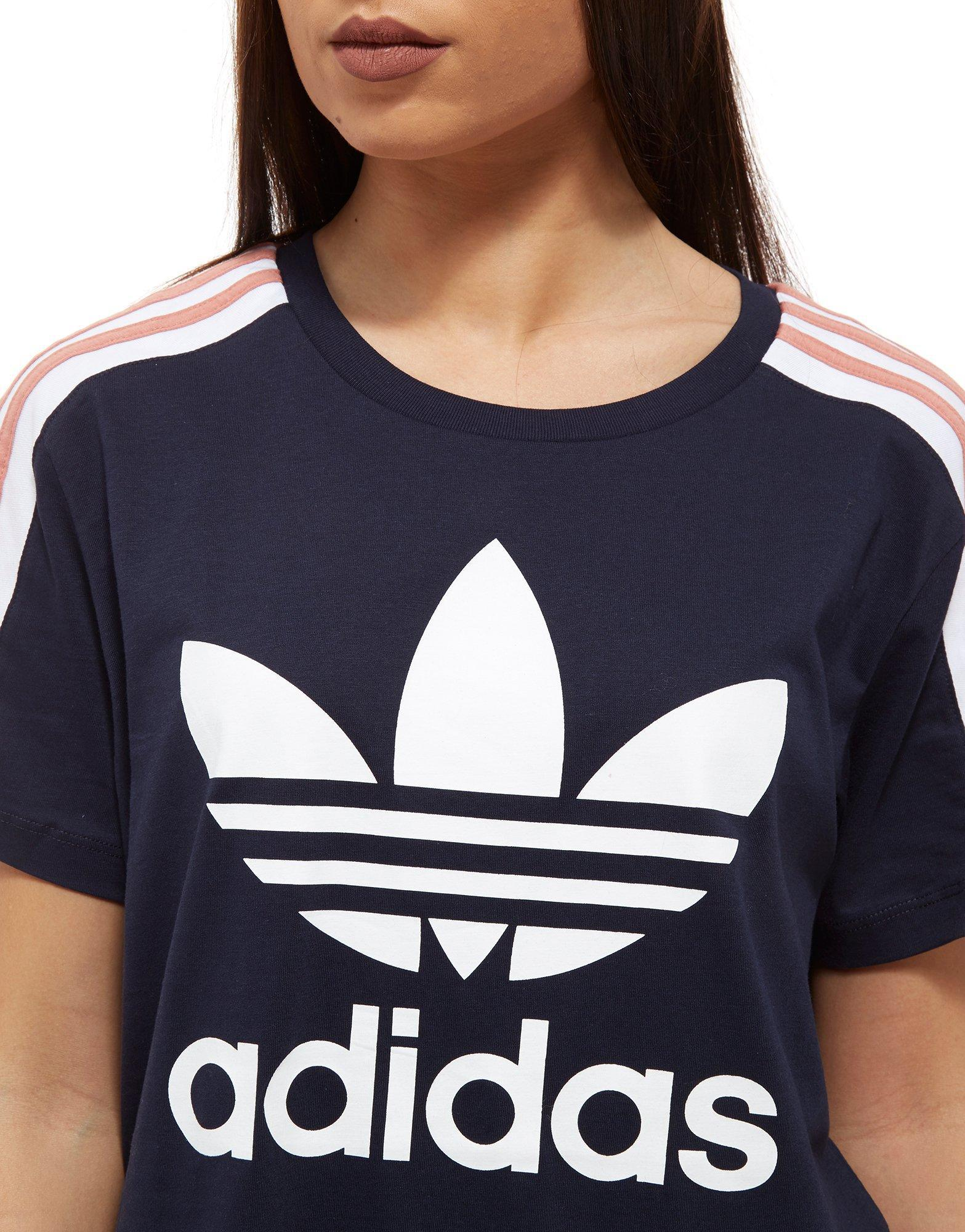 Adidas Originals Mens Street T Shirt Bright Blue Pink | AGBU