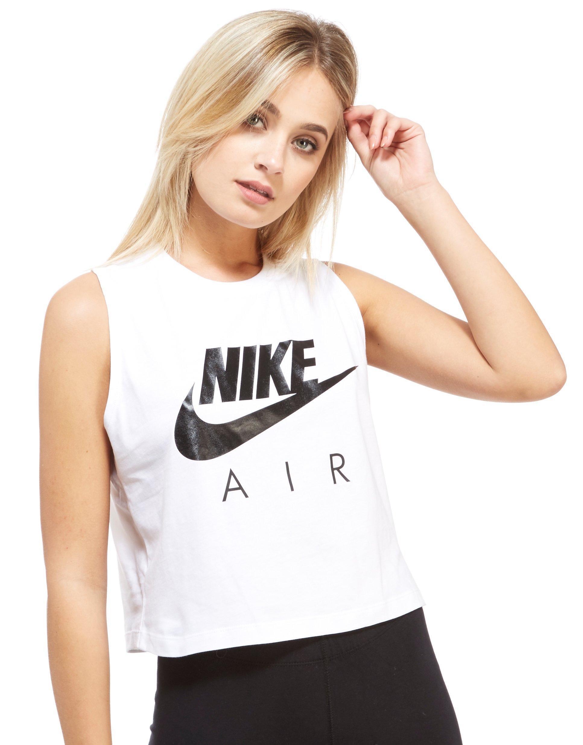 56b41e61fc1c45 Lyst - Nike Air Crop Vest in White