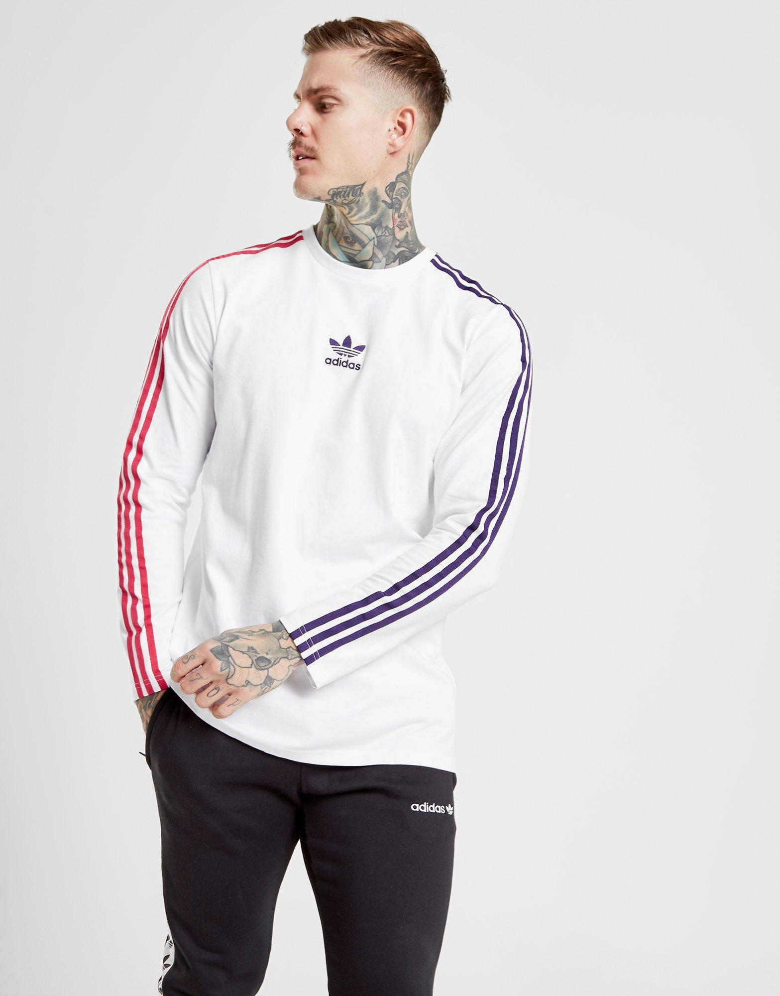 adidas originals trefoil long sleeve t shirt white