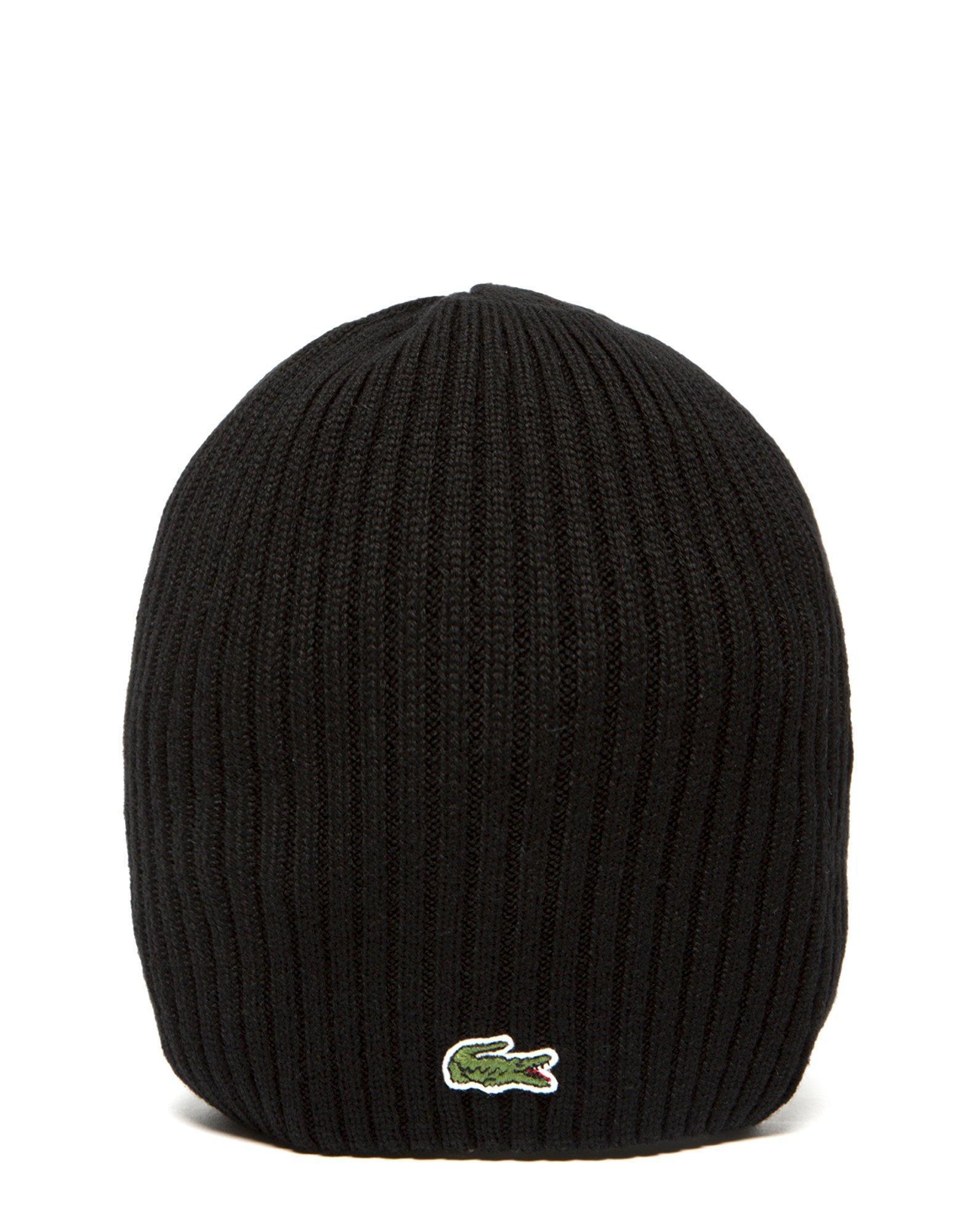 Lyst - Lacoste Pip Beanie Hat in Black for Men