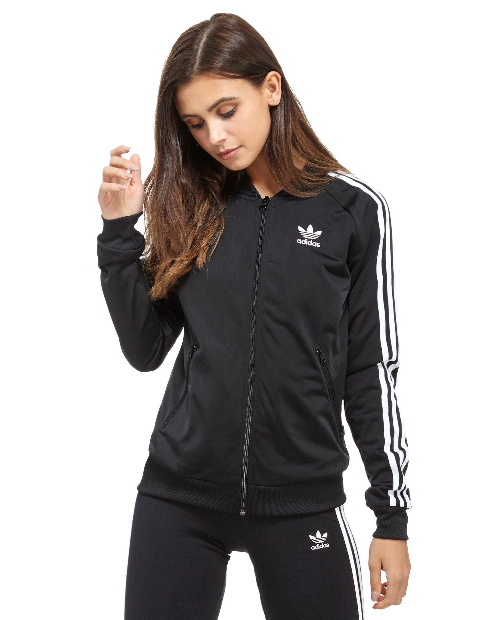 Adidas originals Supergirl Track Top in Black | Lyst