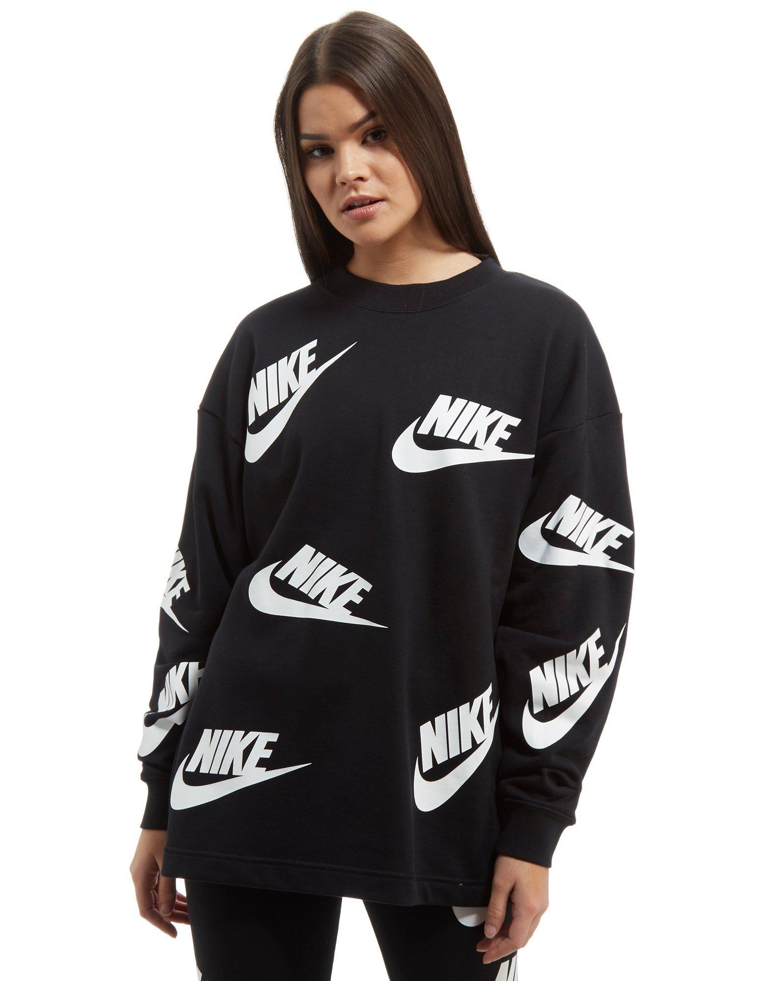 e66fd157dc Nike Black And White Striped Sweatshirt