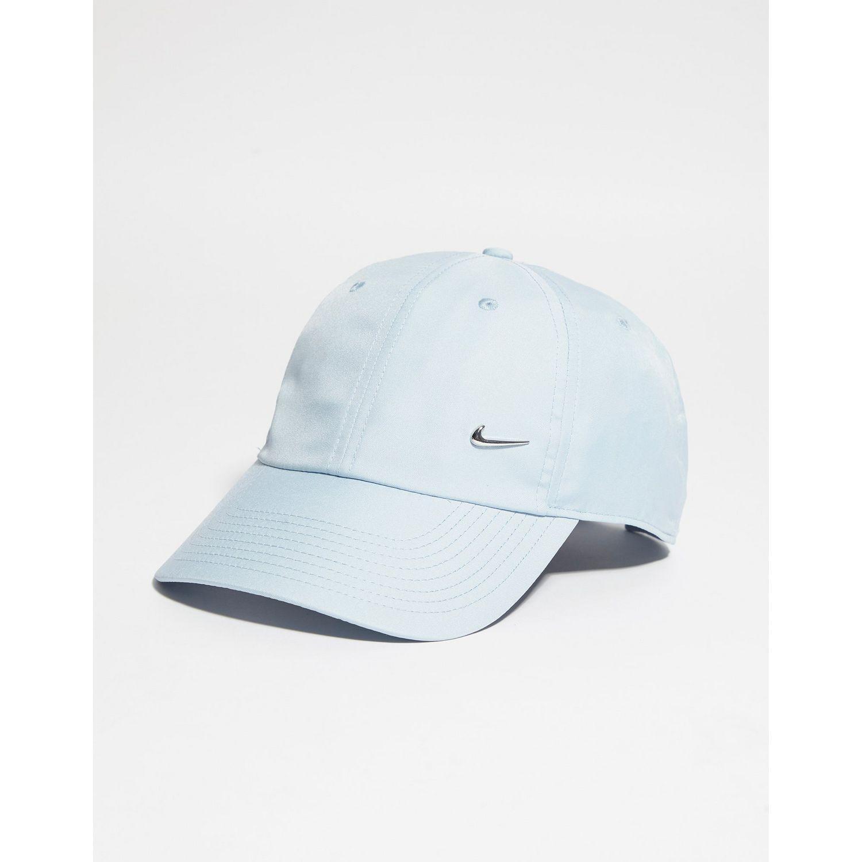 10c5ddae5ea Lyst - Nike Side Swoosh Cap in Blue