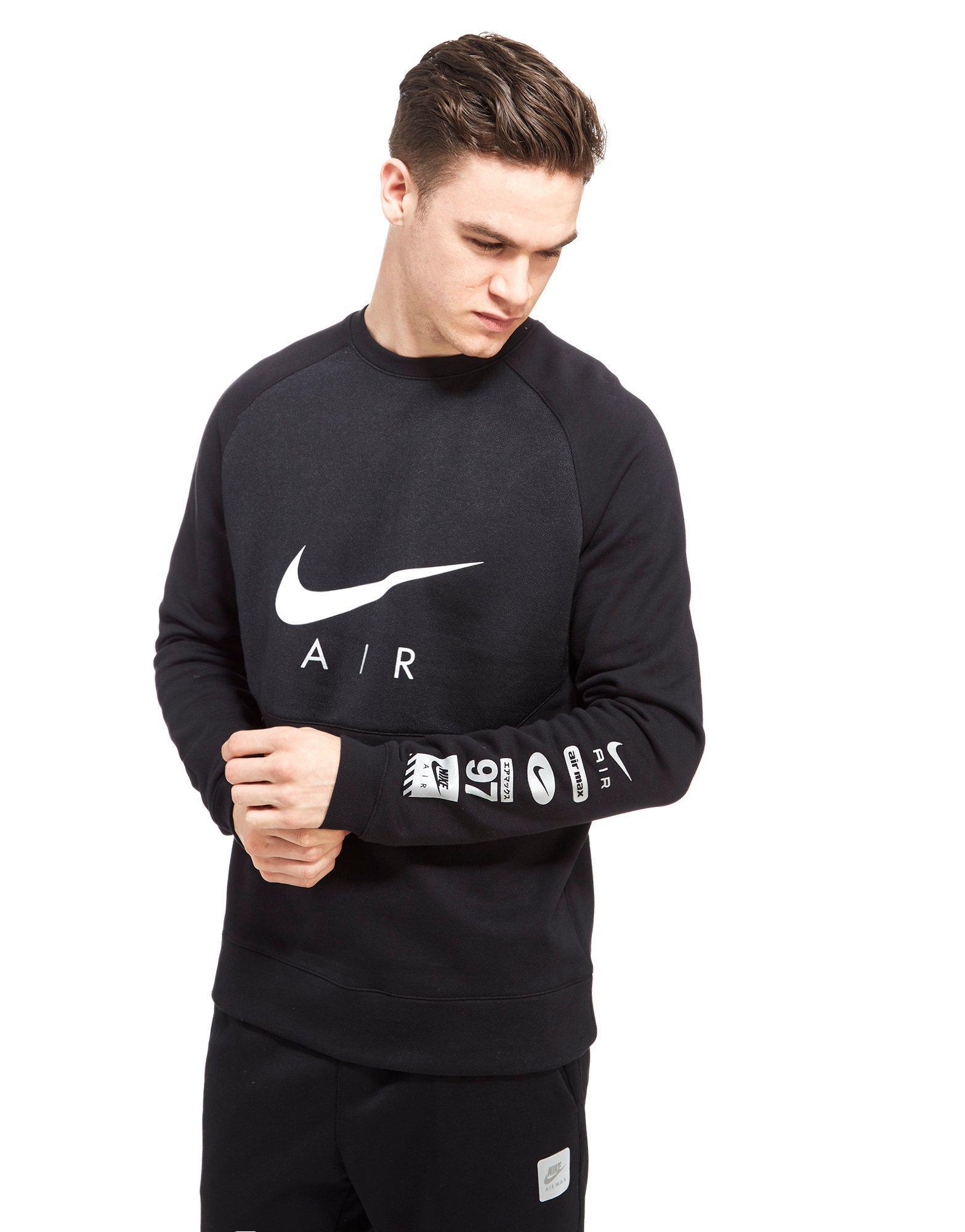 Nike Air Hybrid Crew Sweatshirt in Black for Men