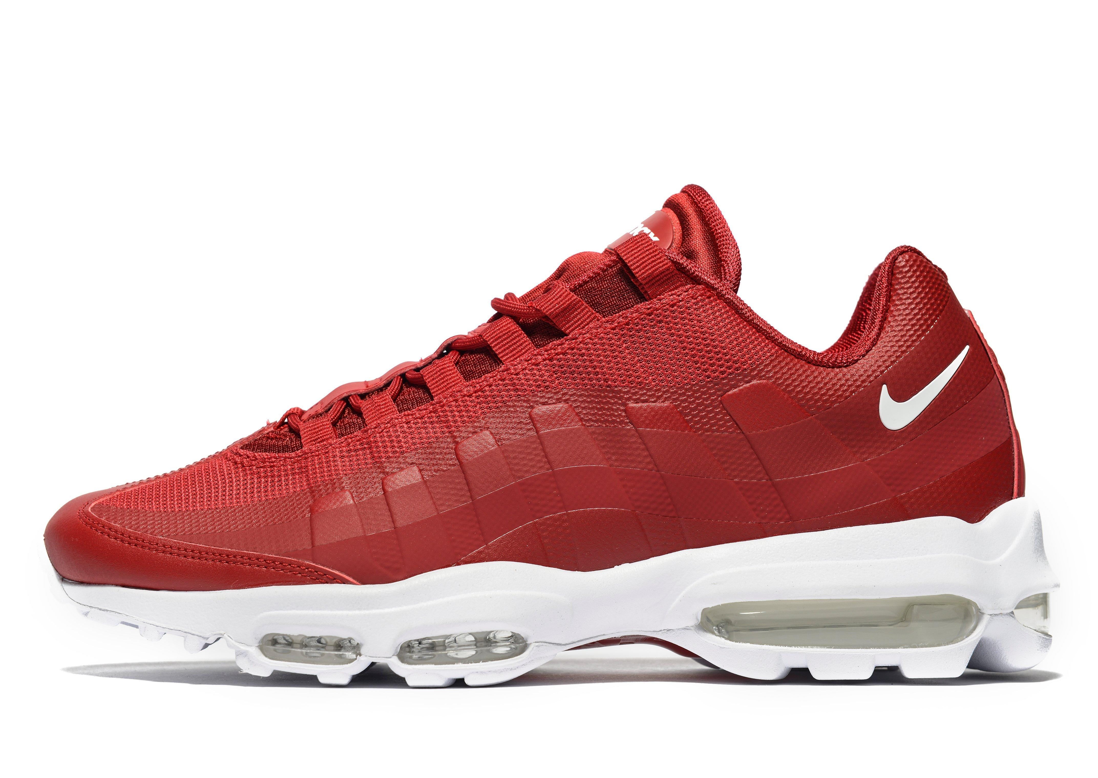 nike air max 95 ultra essential in red for men lyst