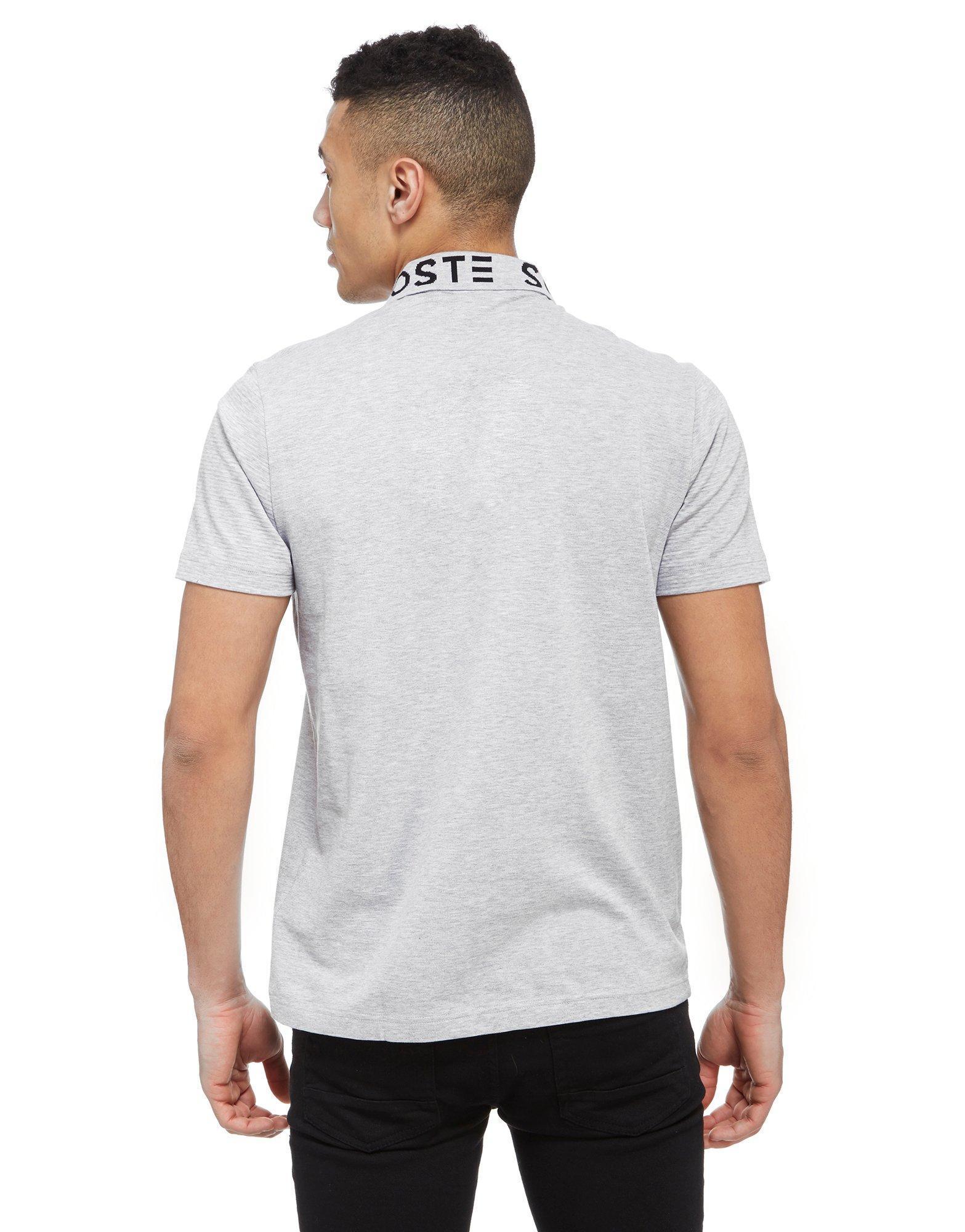 Lacoste sport polo shirt in gray for men lyst - Lacoste poloshirt weiay ...