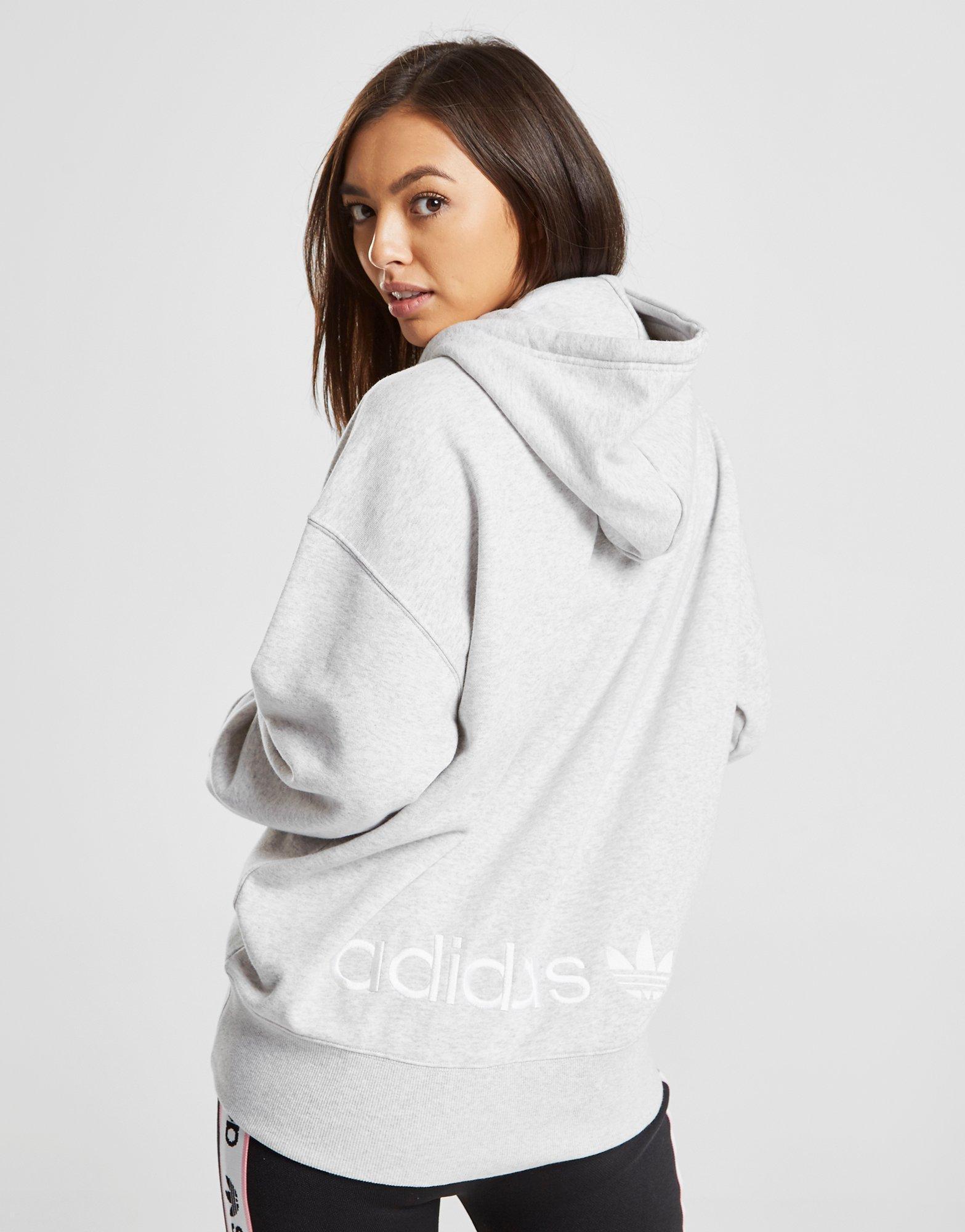 f4ecb4ab9 adidas Originals Coeeze Ruche Overhead Hoodie in Gray - Lyst