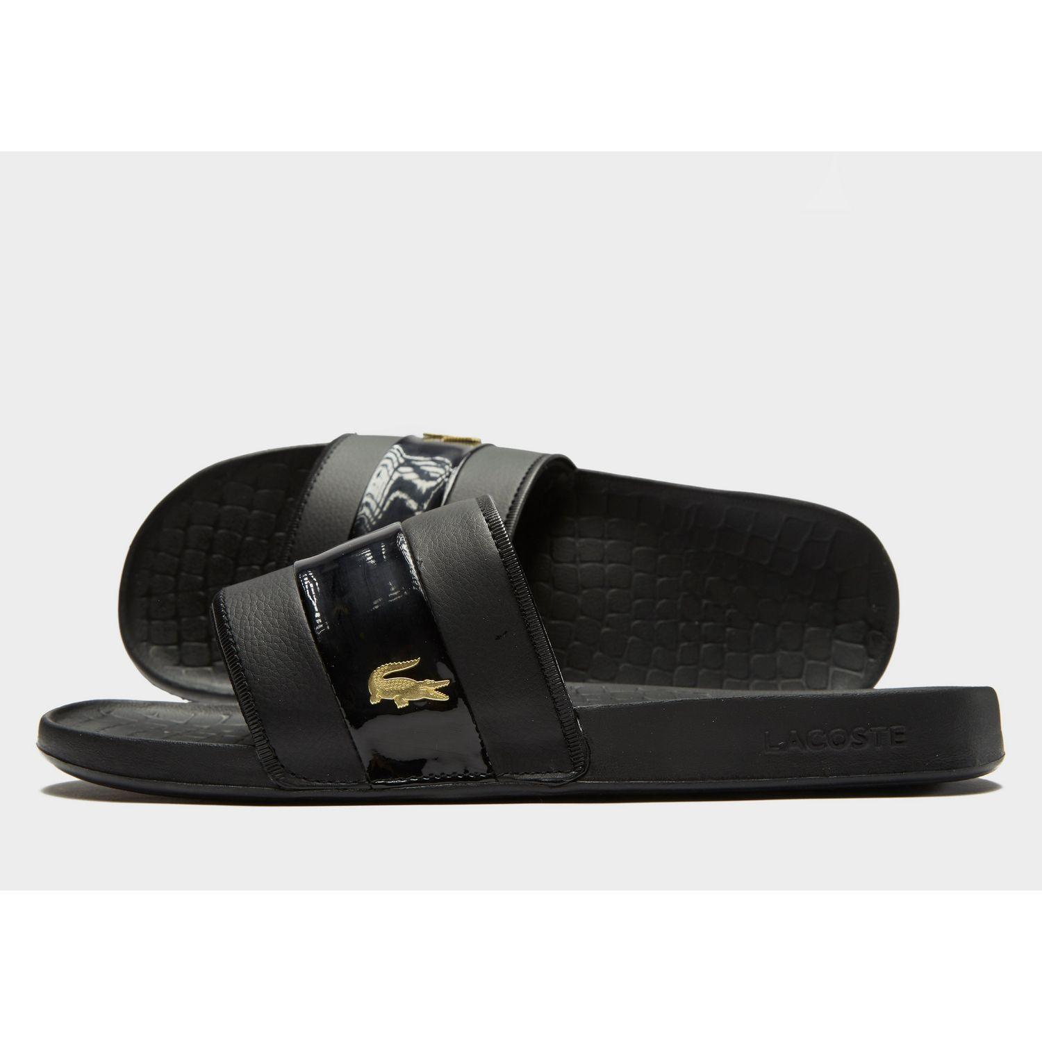 4df5ad5e5 Lacoste Frasier Deluxe Slides in Black for Men - Lyst