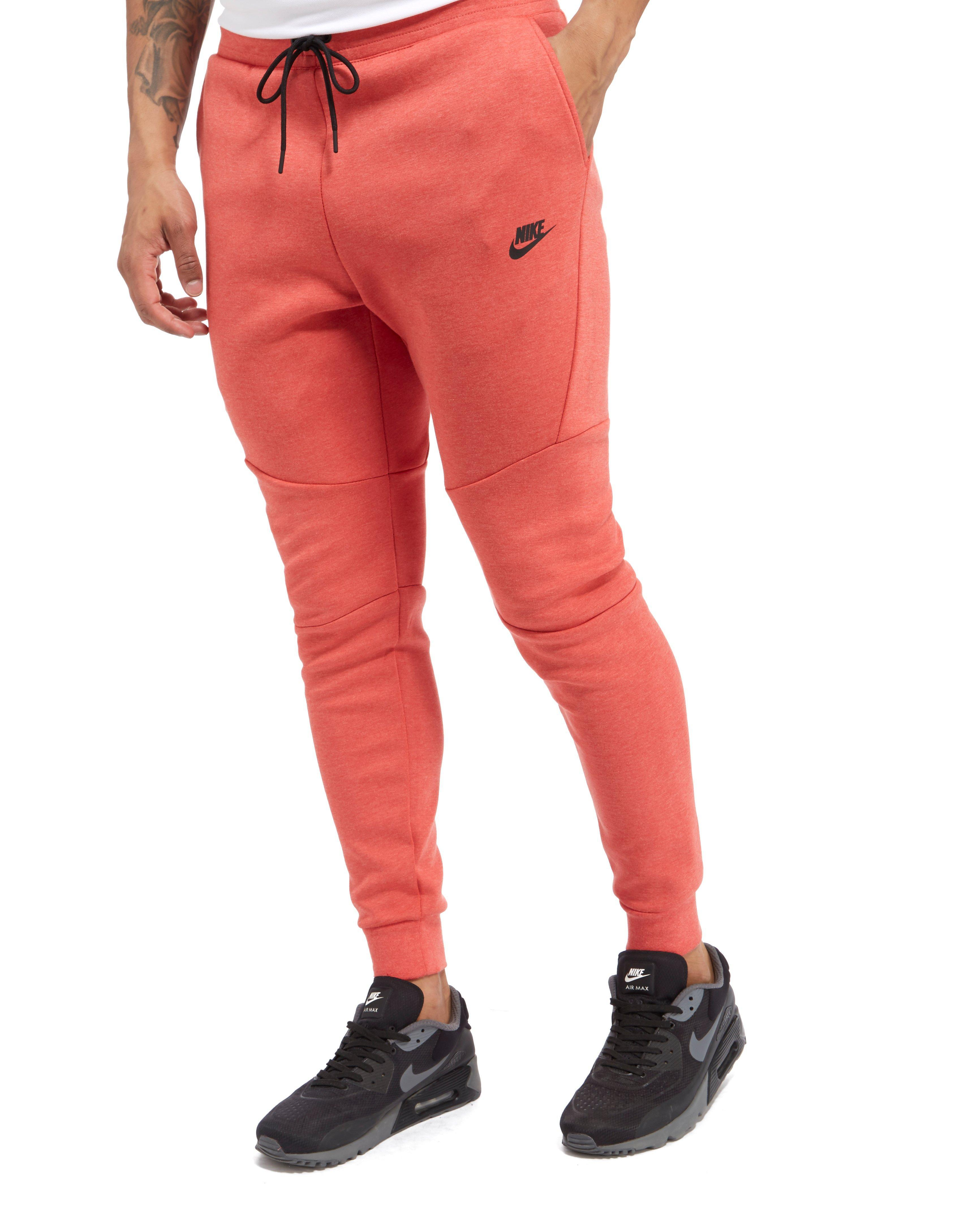 Nike Tech Fleece Pants in Red for Men - Lyst 8284d2f3768f4