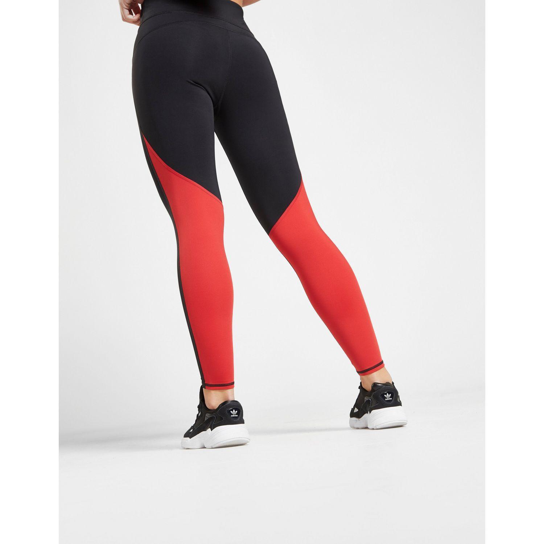 fade1f60da Lyst - Calvin Klein Performance Colour Block Tights in Red