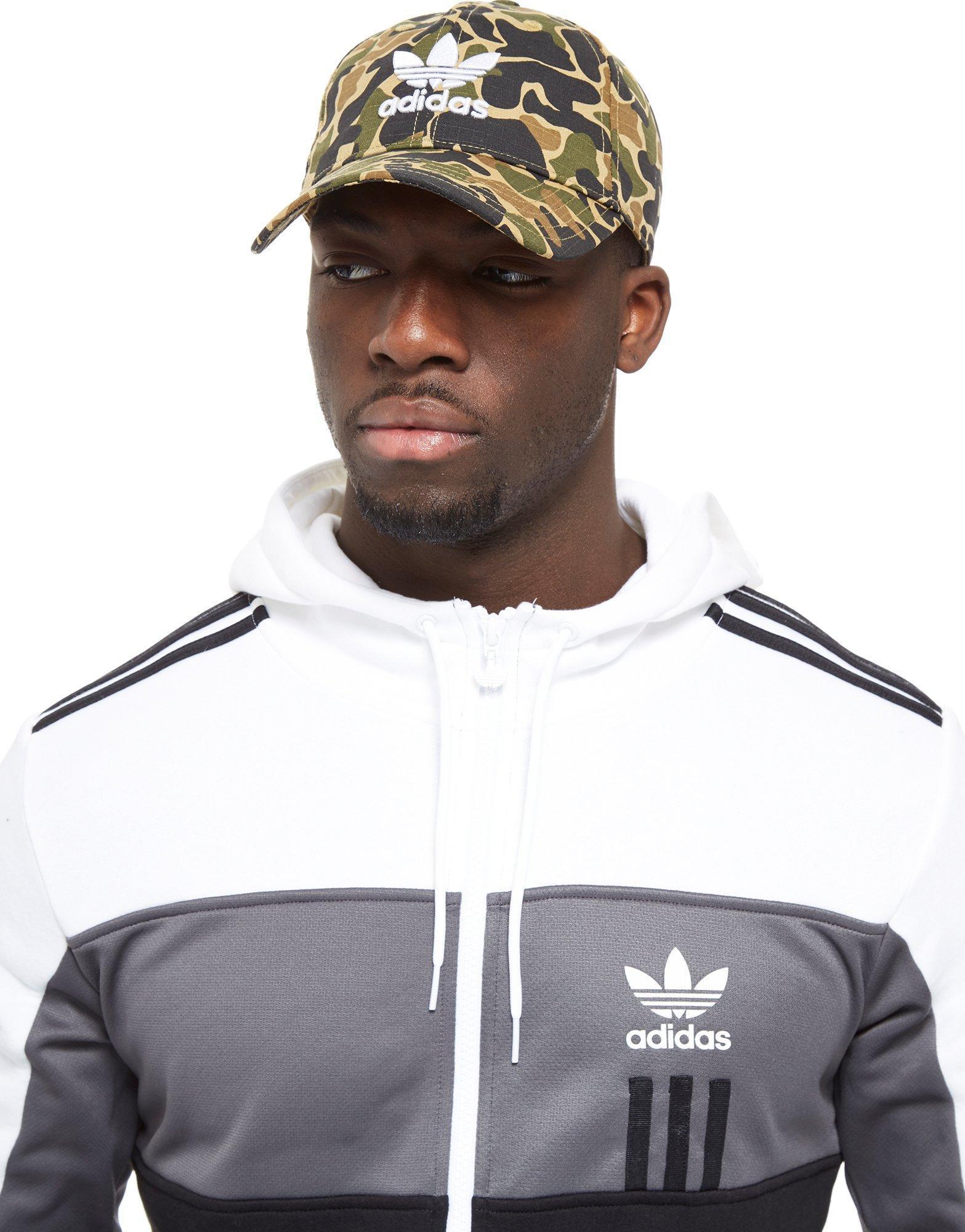cb2573bc36d Adidas Originals Trefoil Classic Cap in Green for Men - Lyst