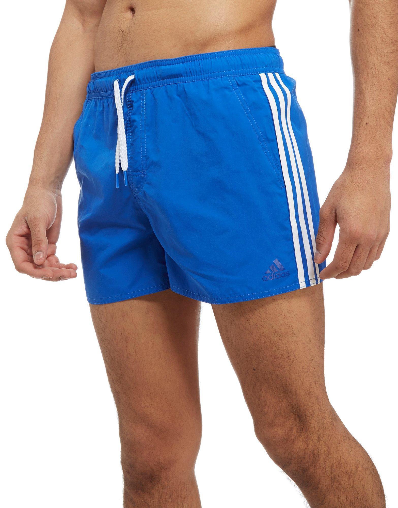 170e2a490dacd adidas 3-stripes Swim Shorts in Blue for Men - Lyst