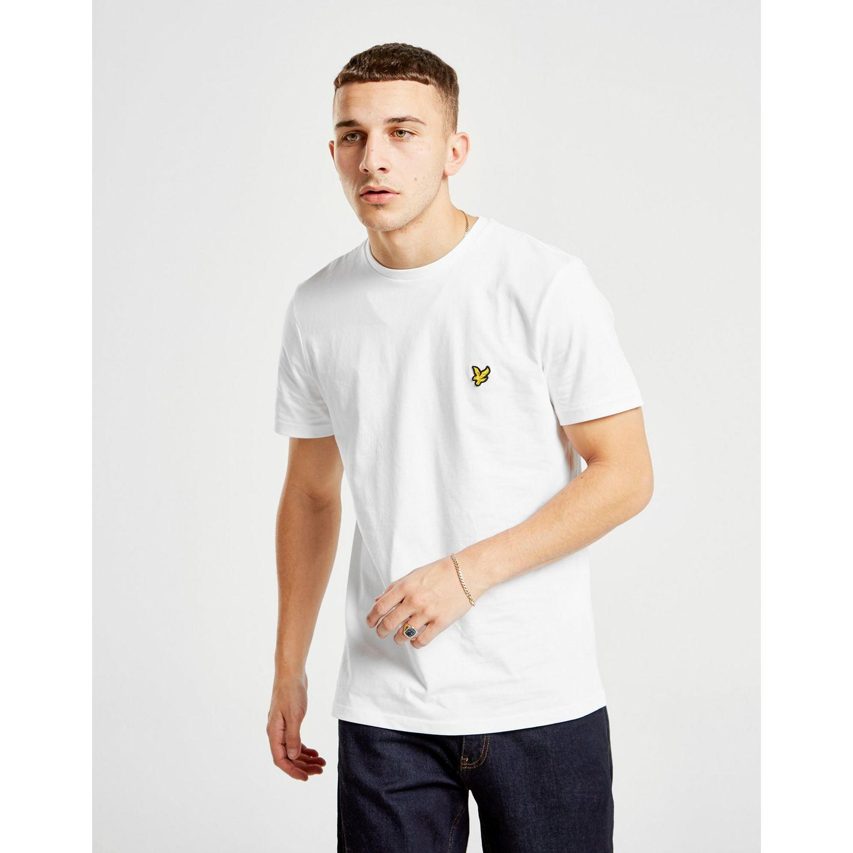 8e4327faf Lyle & Scott Crew Neck T-shirt in White for Men - Lyst
