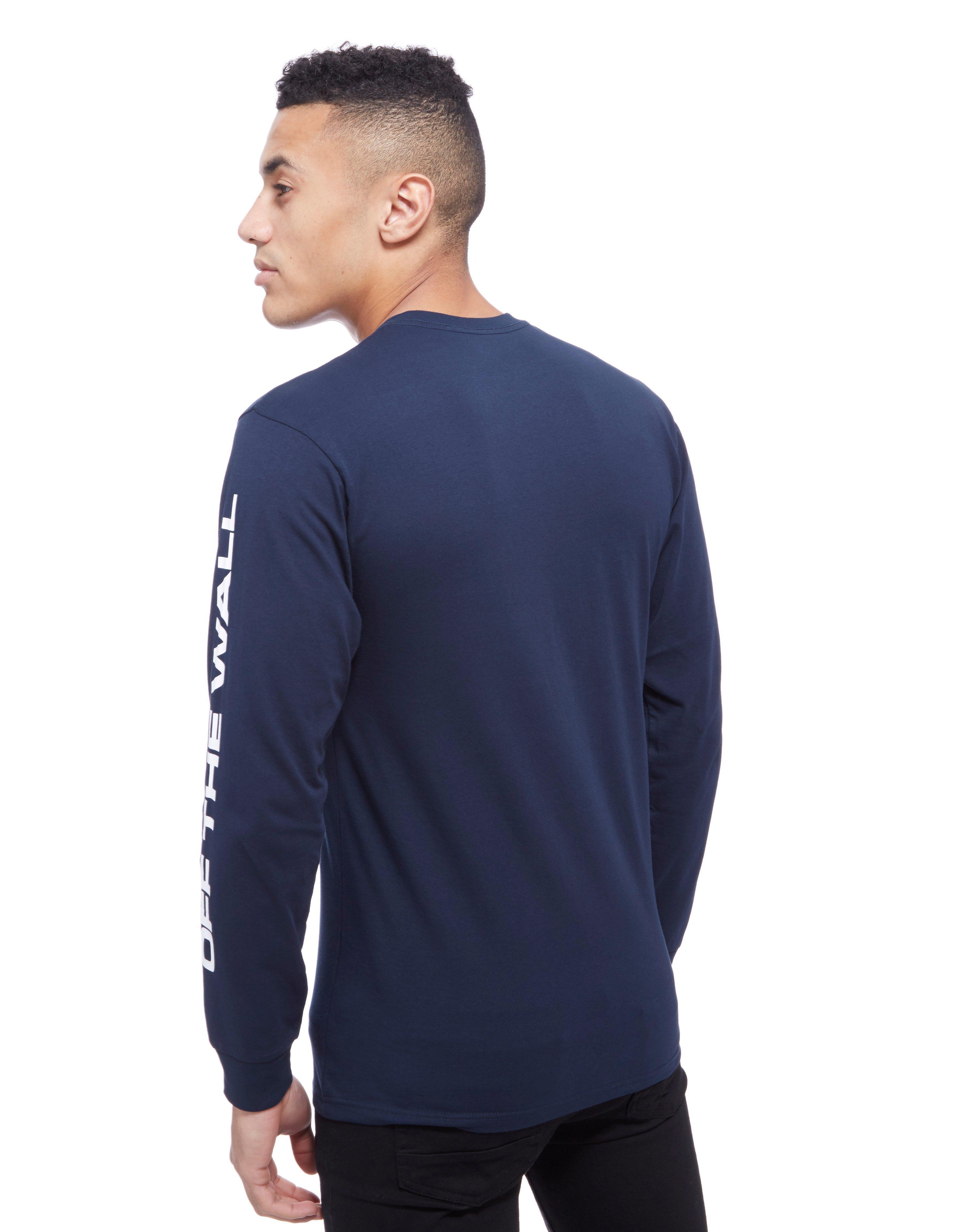 557879a3da9a48 Lyst - Vans Side Waze Long Sleeve T-shirt in Blue for Men