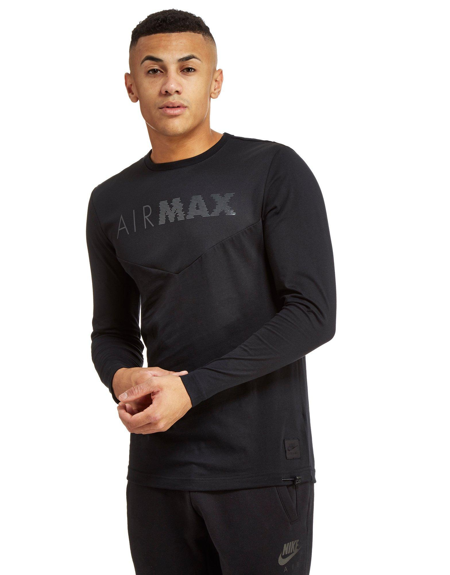 separation shoes e8cc4 435da Nike Air Max Long Sleeve Chevron T-shirt in Black for Men - Lyst