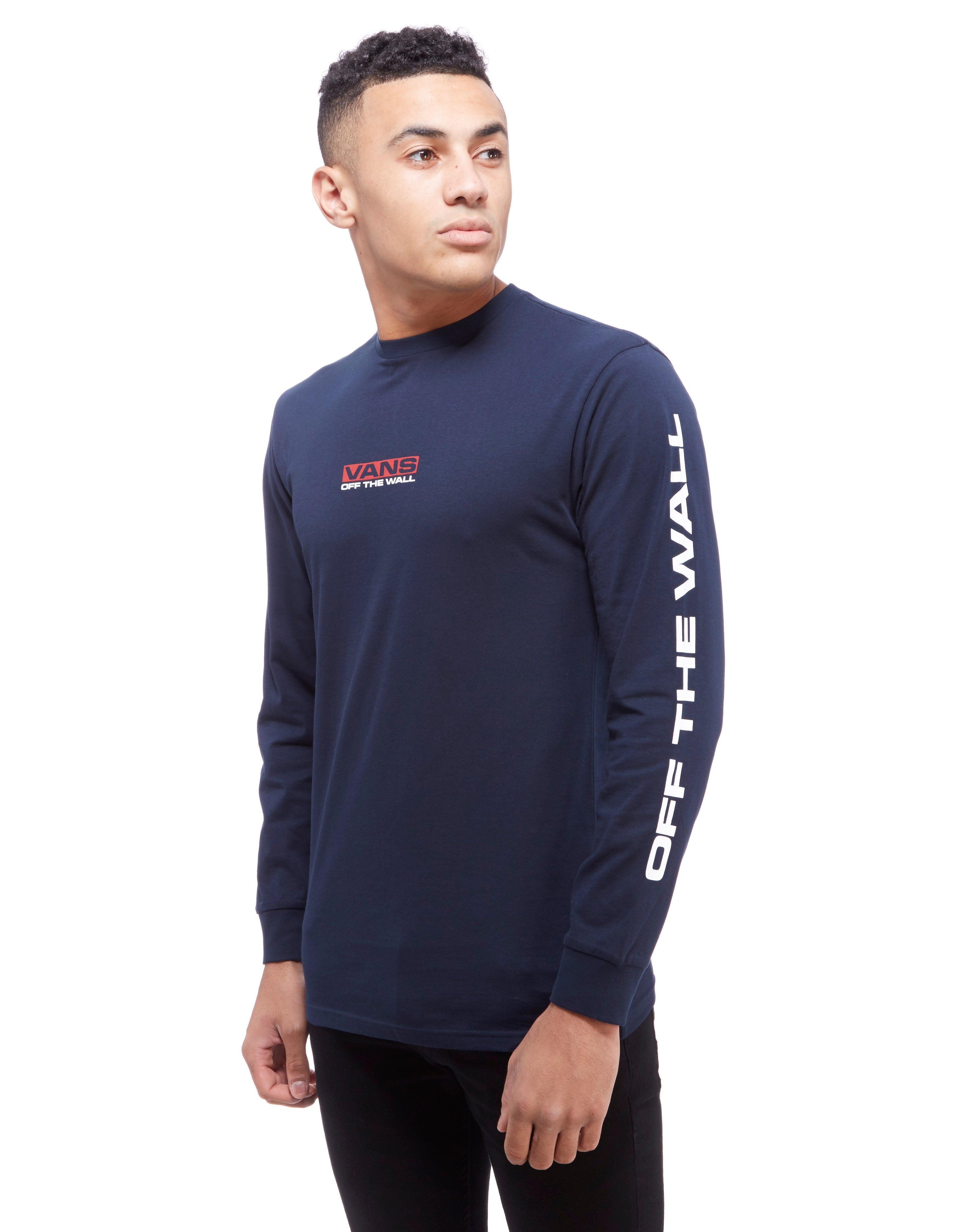 f309fc5723 Lyst - Vans Side Waze Long Sleeve T-shirt in Blue for Men