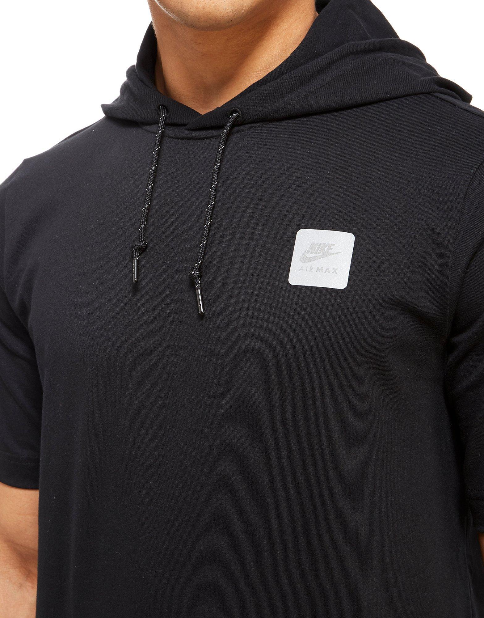 nike air max hooded t shirt in black for men lyst