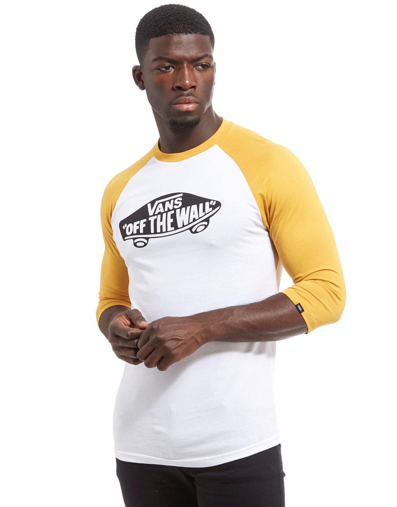 b4fe6dda3f111e Lyst - Vans Off The Wall Raglan Sleeve T-shirt in White for Men