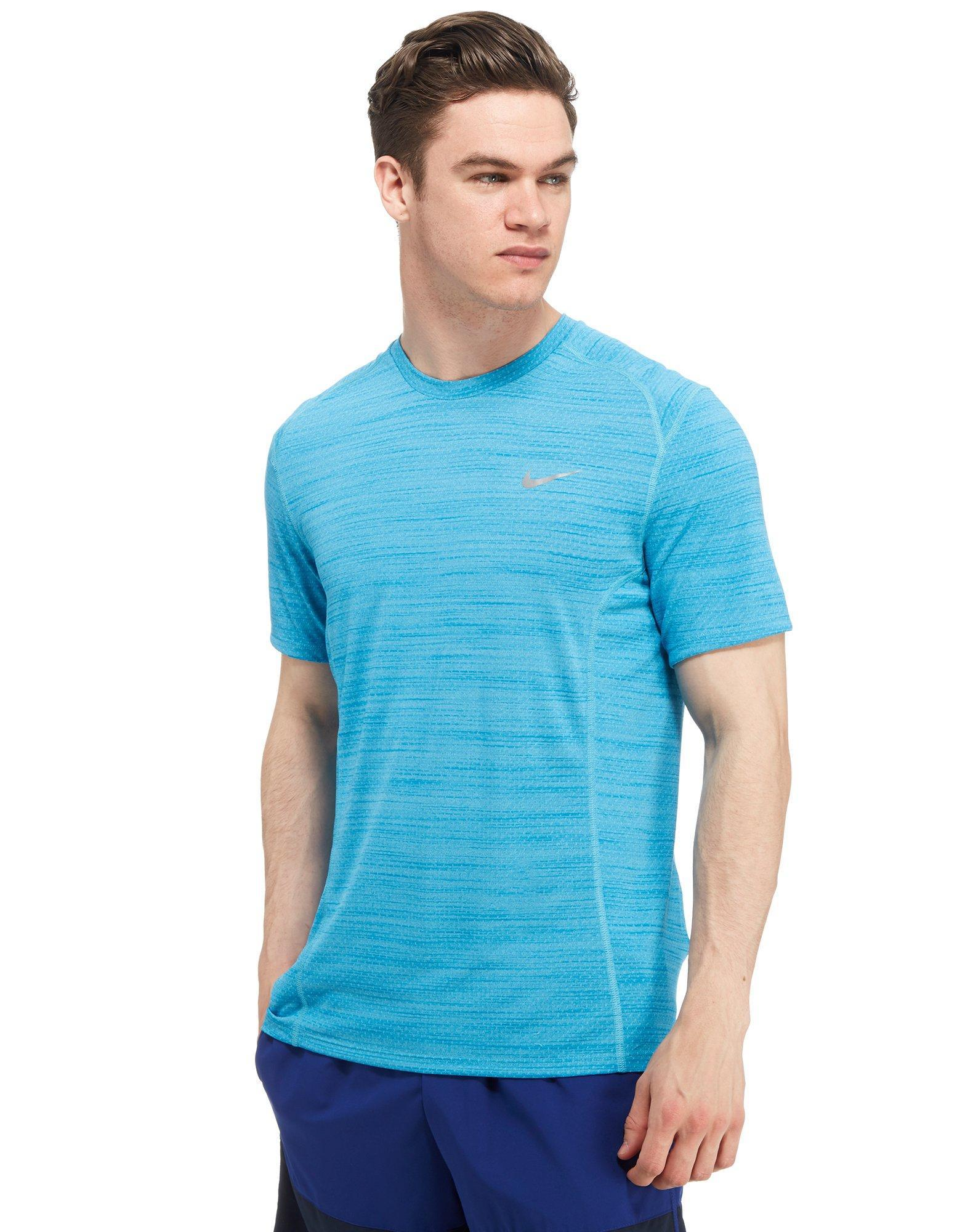 97075f03dd39 Nike Dri-fit Cool Miler T-shirt in Blue for Men - Lyst