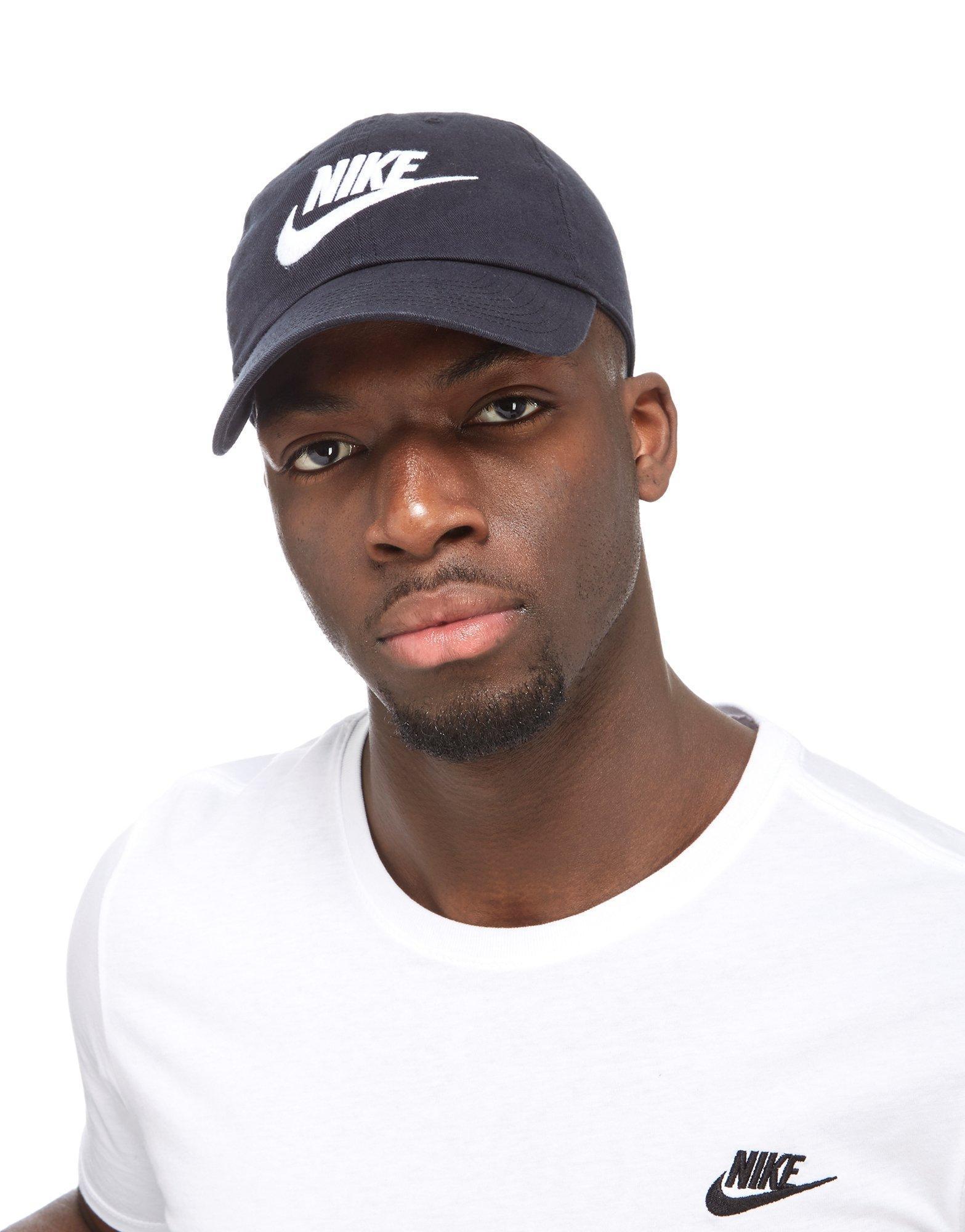 Lyst - Nike Futura Washed Strapback Cap in Black for Men 1ac2c4860f6