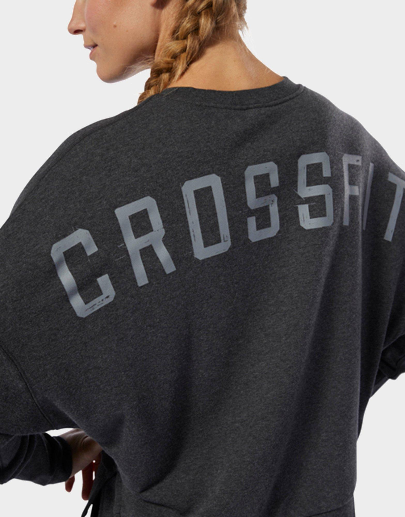 8fb344ef Reebok - Black Crossfit Terry Crew Sweatshirt - Lyst. View fullscreen