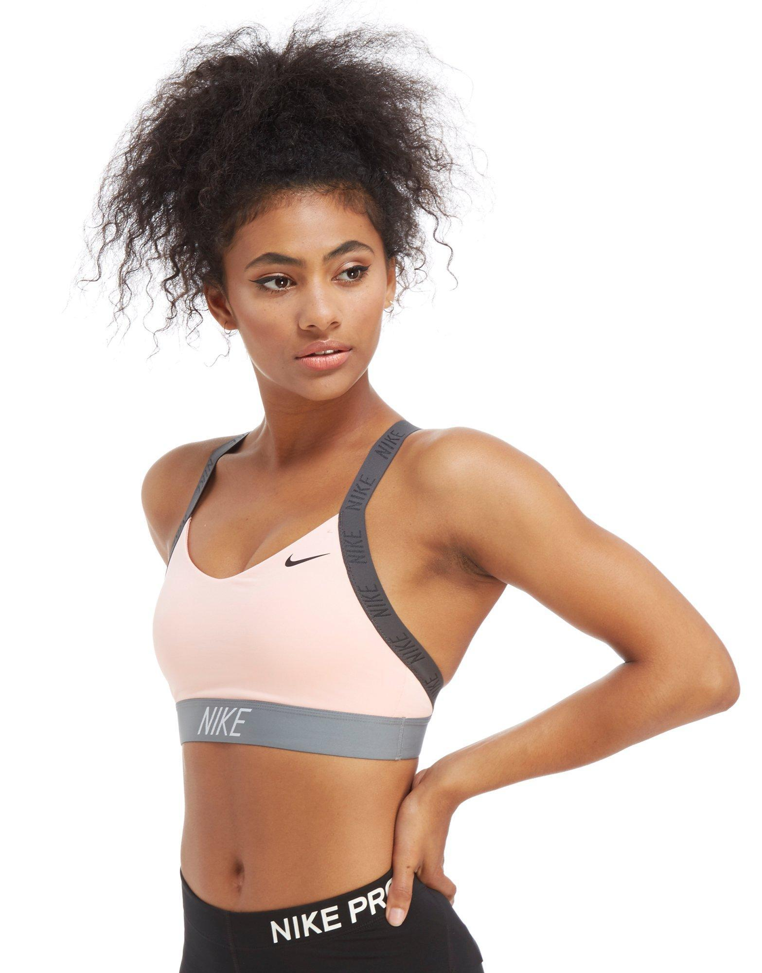 b068f7a5b2 Nike Training Indy Logo Sports Bra - Lyst