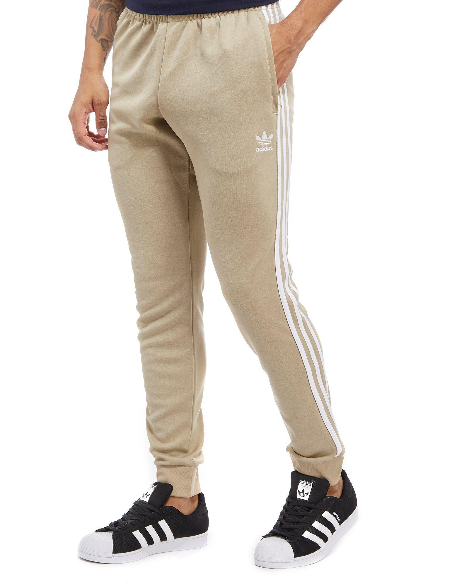 dc7b020a1787 Lyst - adidas Originals Superstar Poly Track Pants in Natural for Men