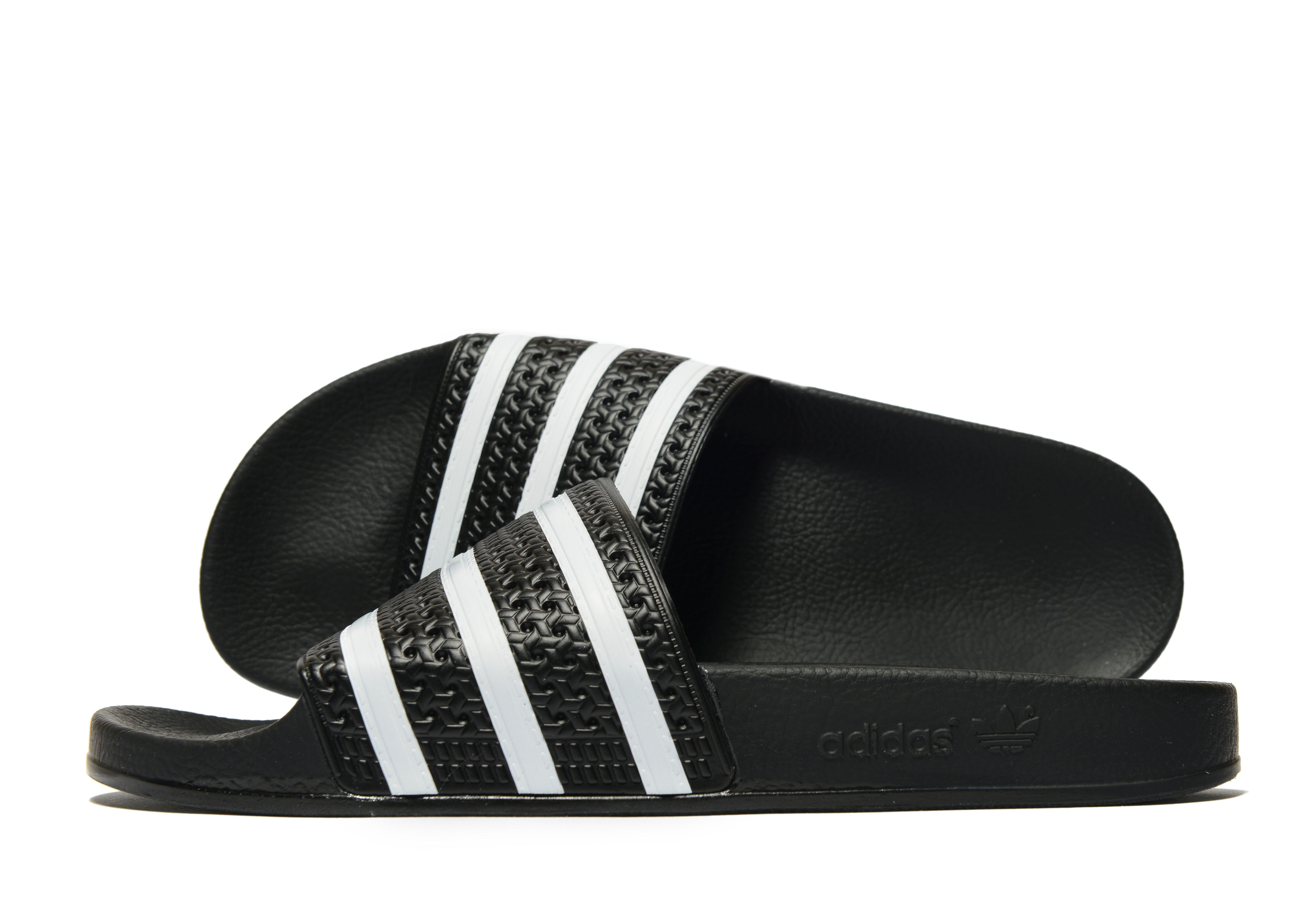 half off 0258b ac966 Adidas Originals - Black Adilette Slides - Lyst