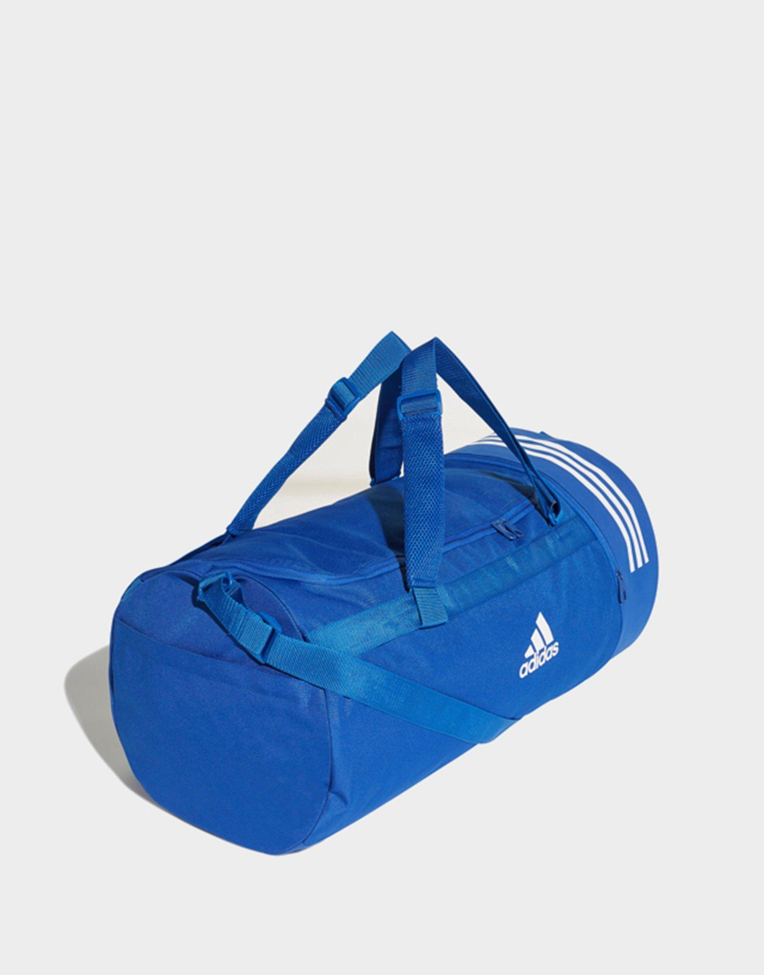 9531e02e1c8 ... Lyst - Adidas Convertible 3-stripes Duffel Bag Large in Blue 100% high  quality ...