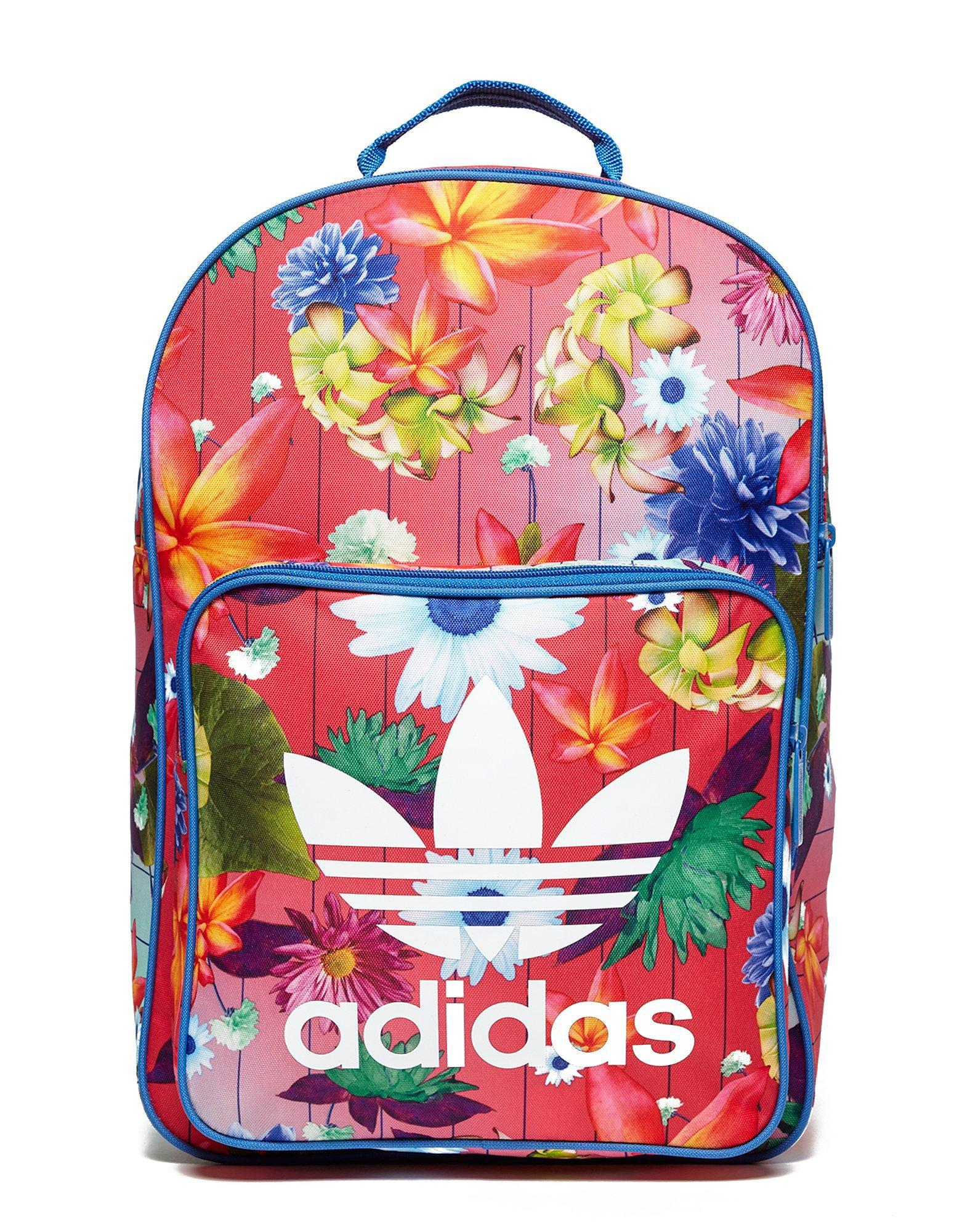 b31ed50a19 Lyst - adidas Originals Classic Flower Backpack