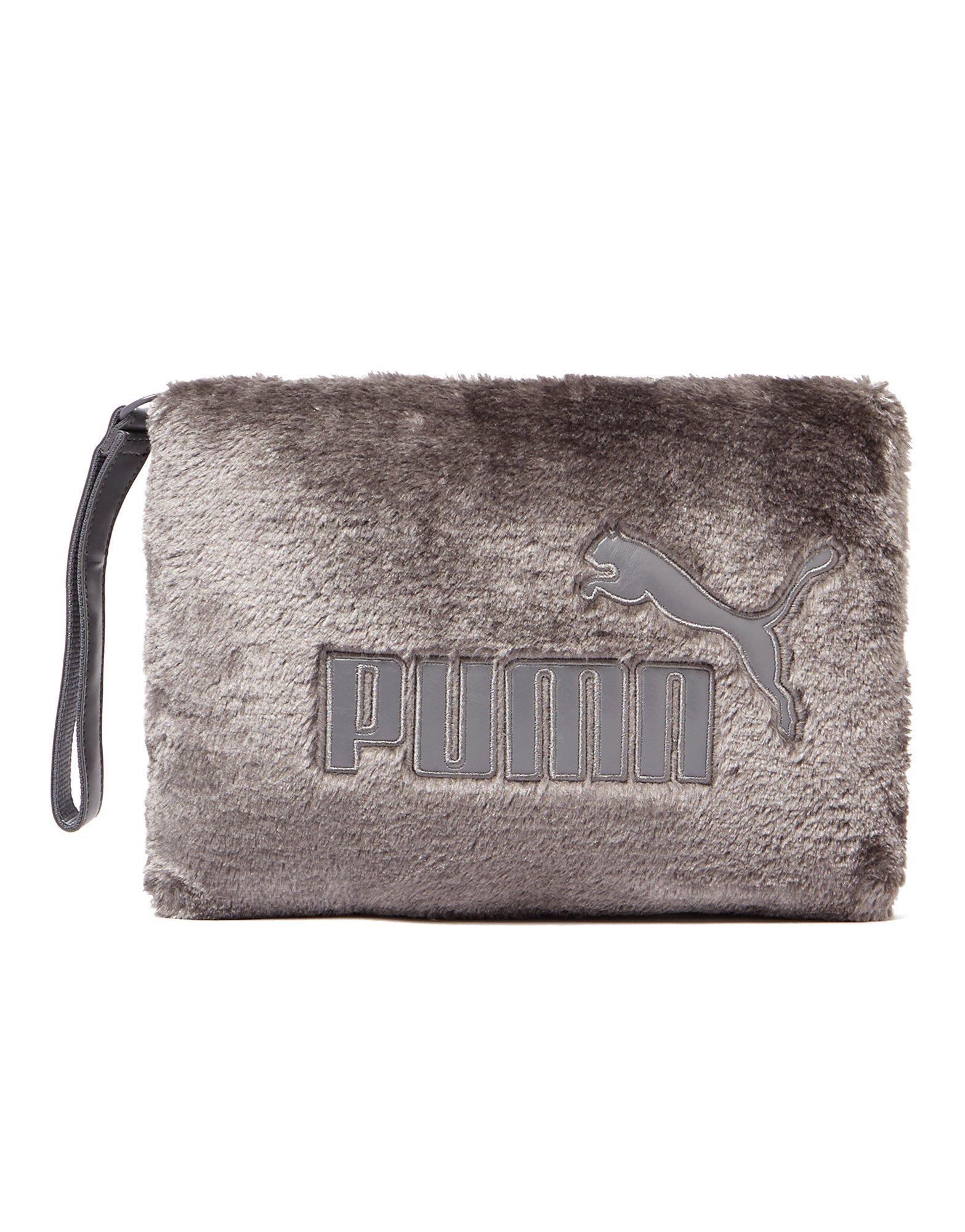 3495a05f2121 Lyst - PUMA Fur Clutch Bag in Purple