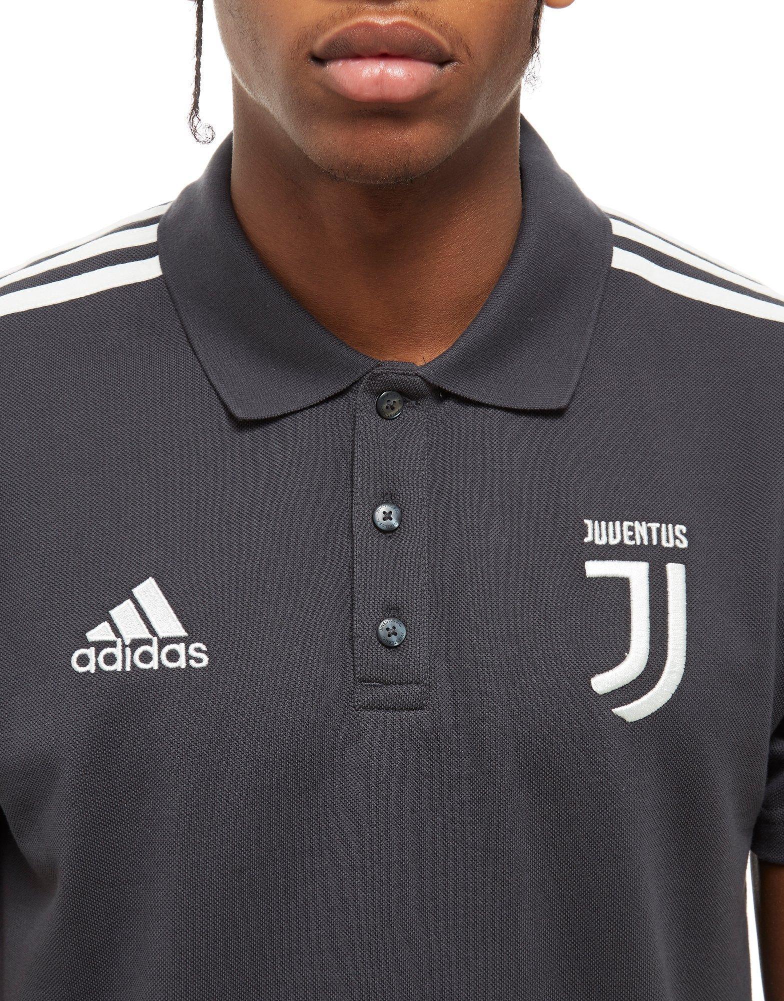 03651c0b2 adidas Juventus 3-stripe Polo Shirt in Gray for Men - Lyst