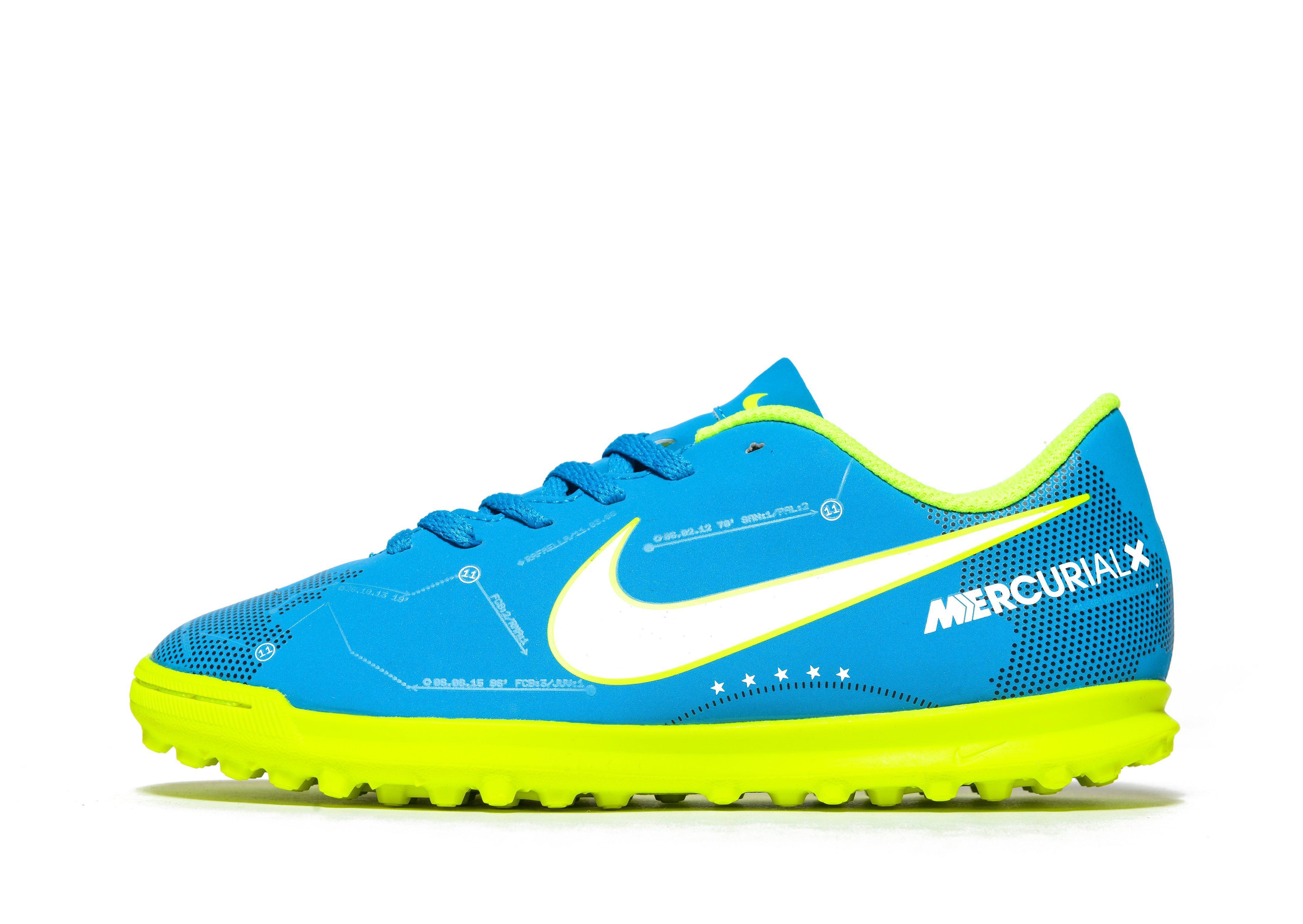 555716e487c Nike Written In The Stars Neymar Mercurial Vortex Tf Ch in Blue for ...