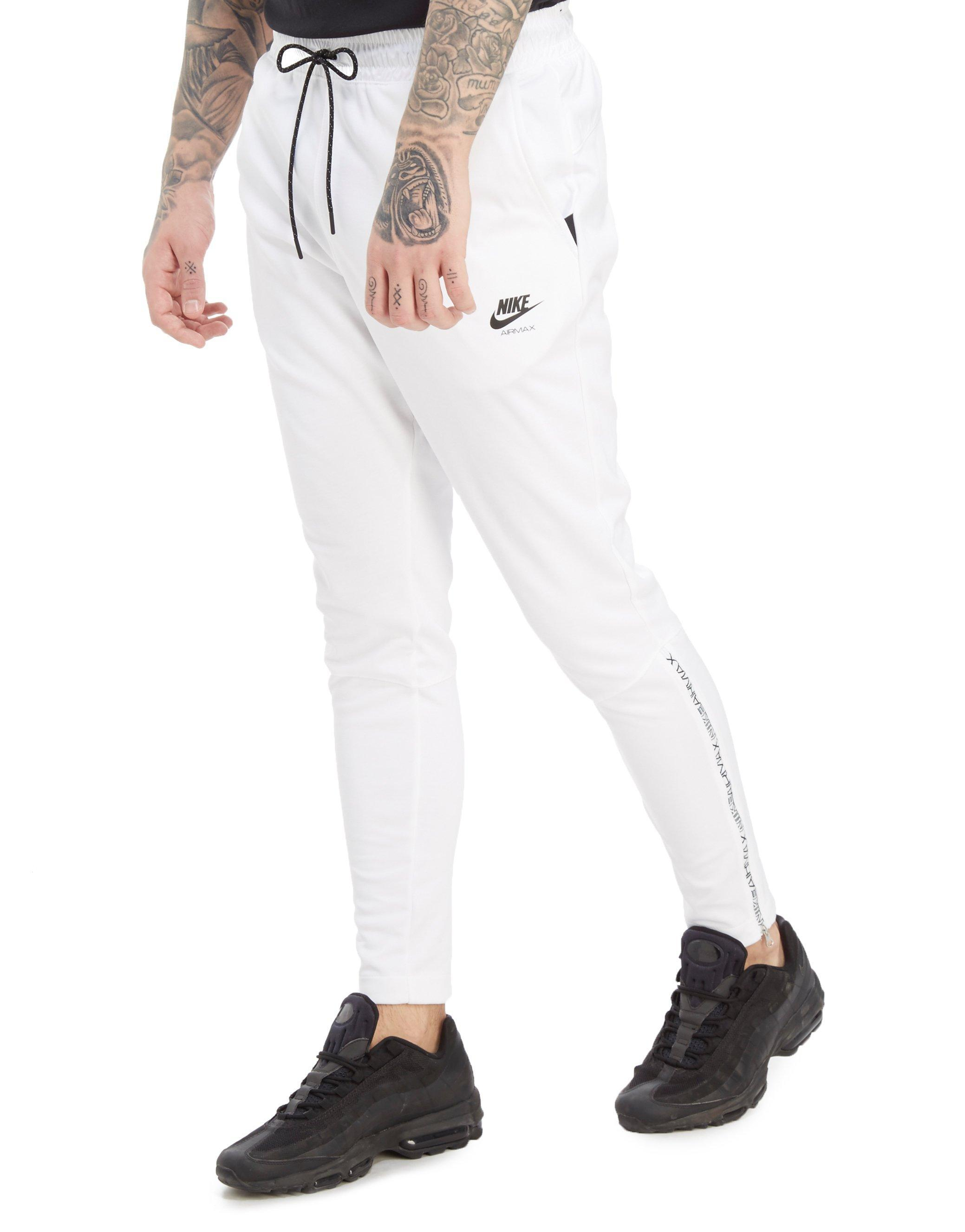 3c365148db ... get lyst nike air max poly joggers in white for men a733b ce7bb