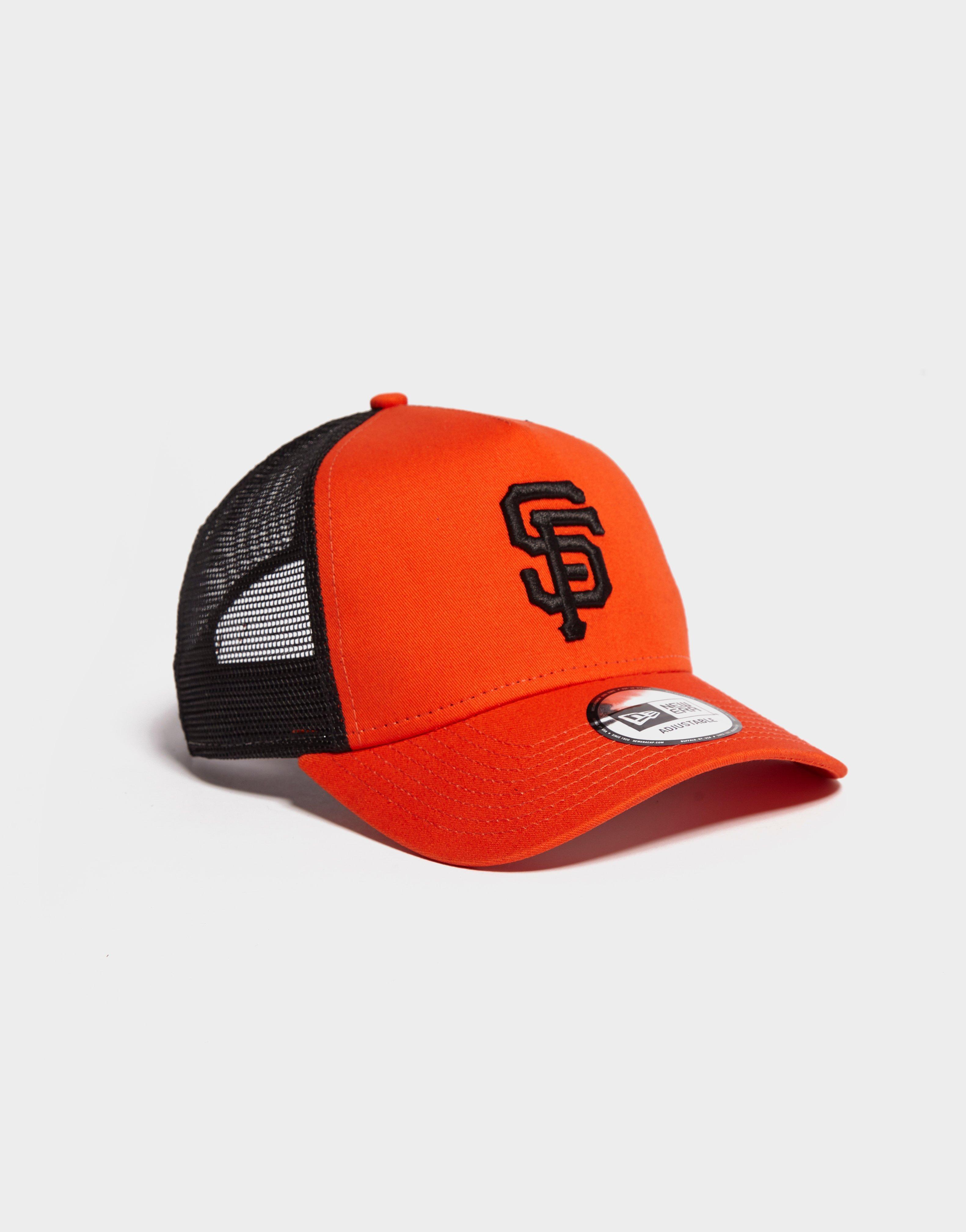 free shipping 022f7 52e16 ... norway lyst ktz mlb san francisco giants trucker reverse cap in orange  53c95 80c2e