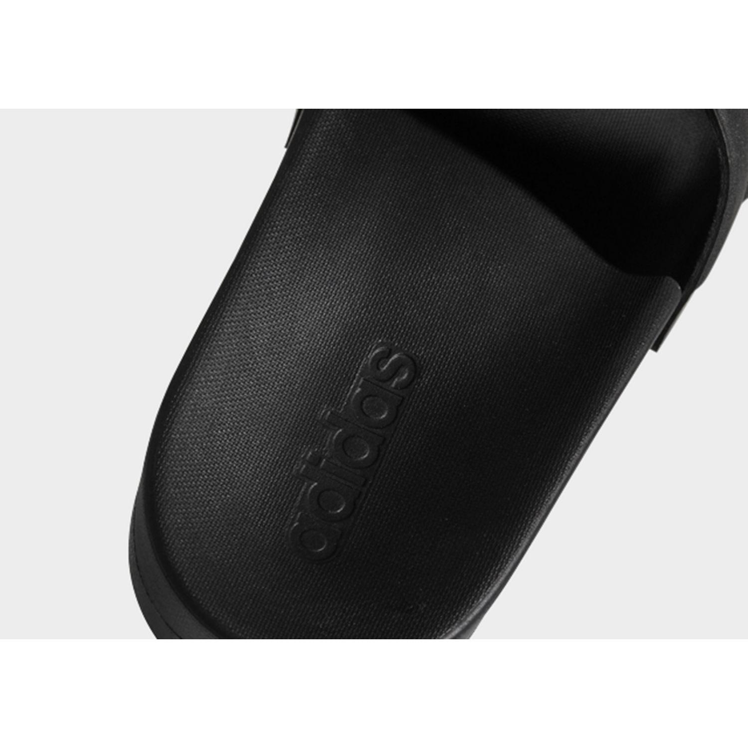 c6632e3a19e21e Adidas - Black Adilette Cloudfoam Plus Mono Slides for Men - Lyst. View  fullscreen