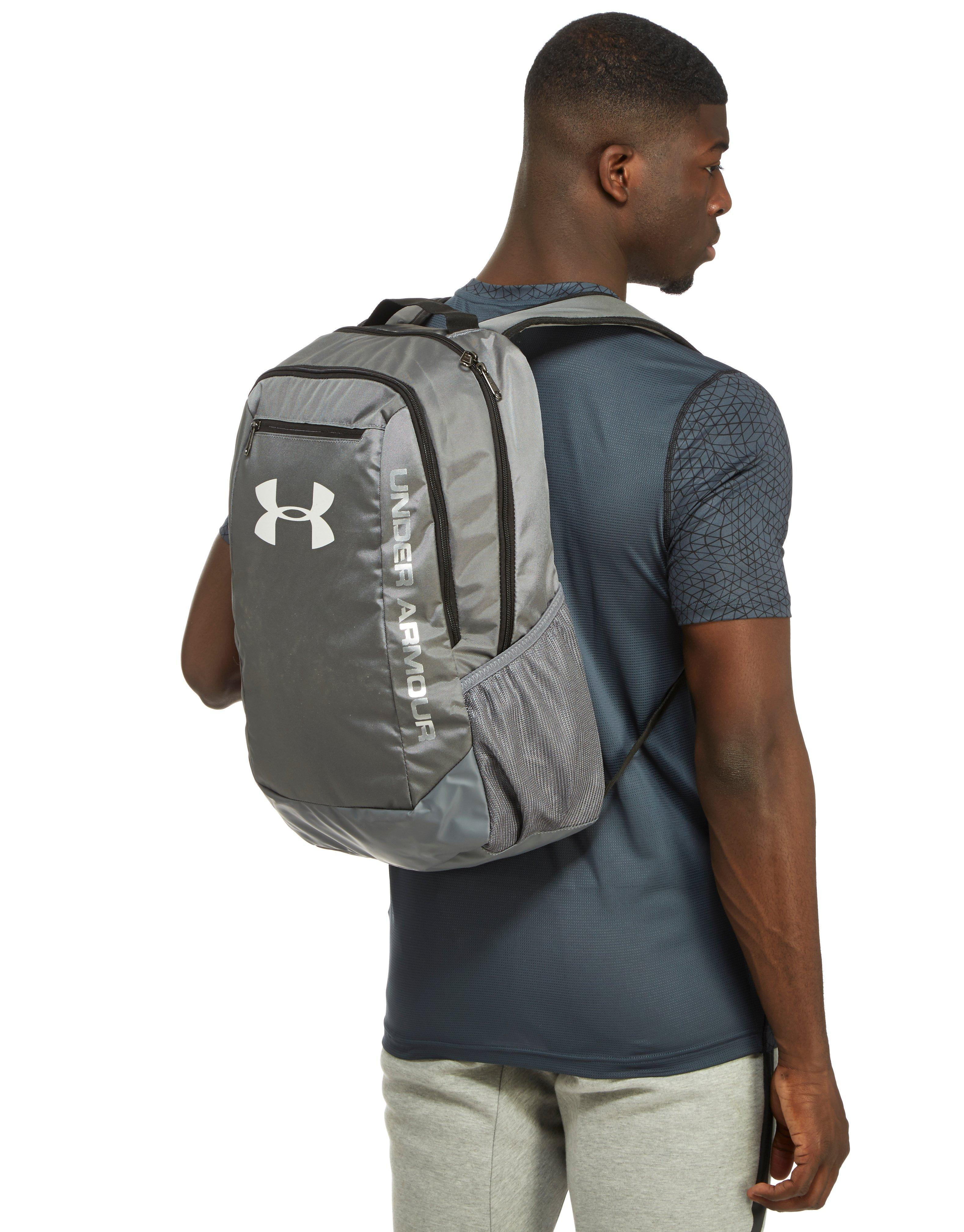Under Armour Hustle Backpack in Gray for Men - Lyst 2a824f07c1044