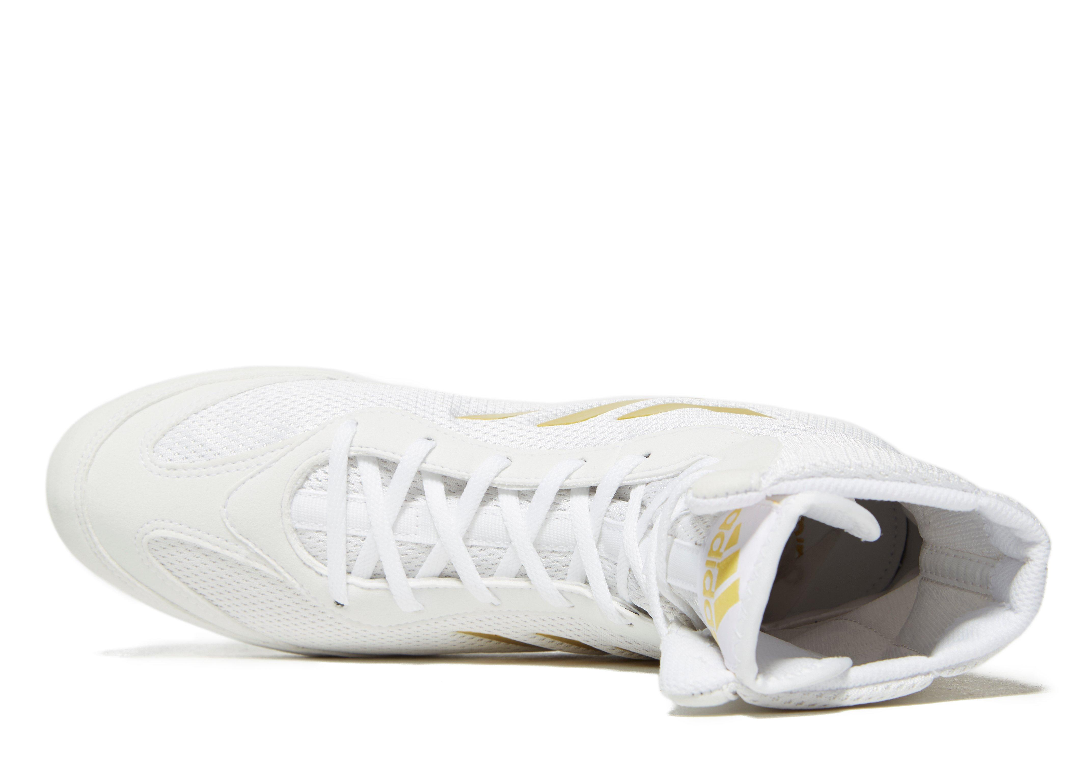 huge discount 730d7 ad4ee Lyst - Adidas Box Hog Plus Boxing Shoes in White for Men