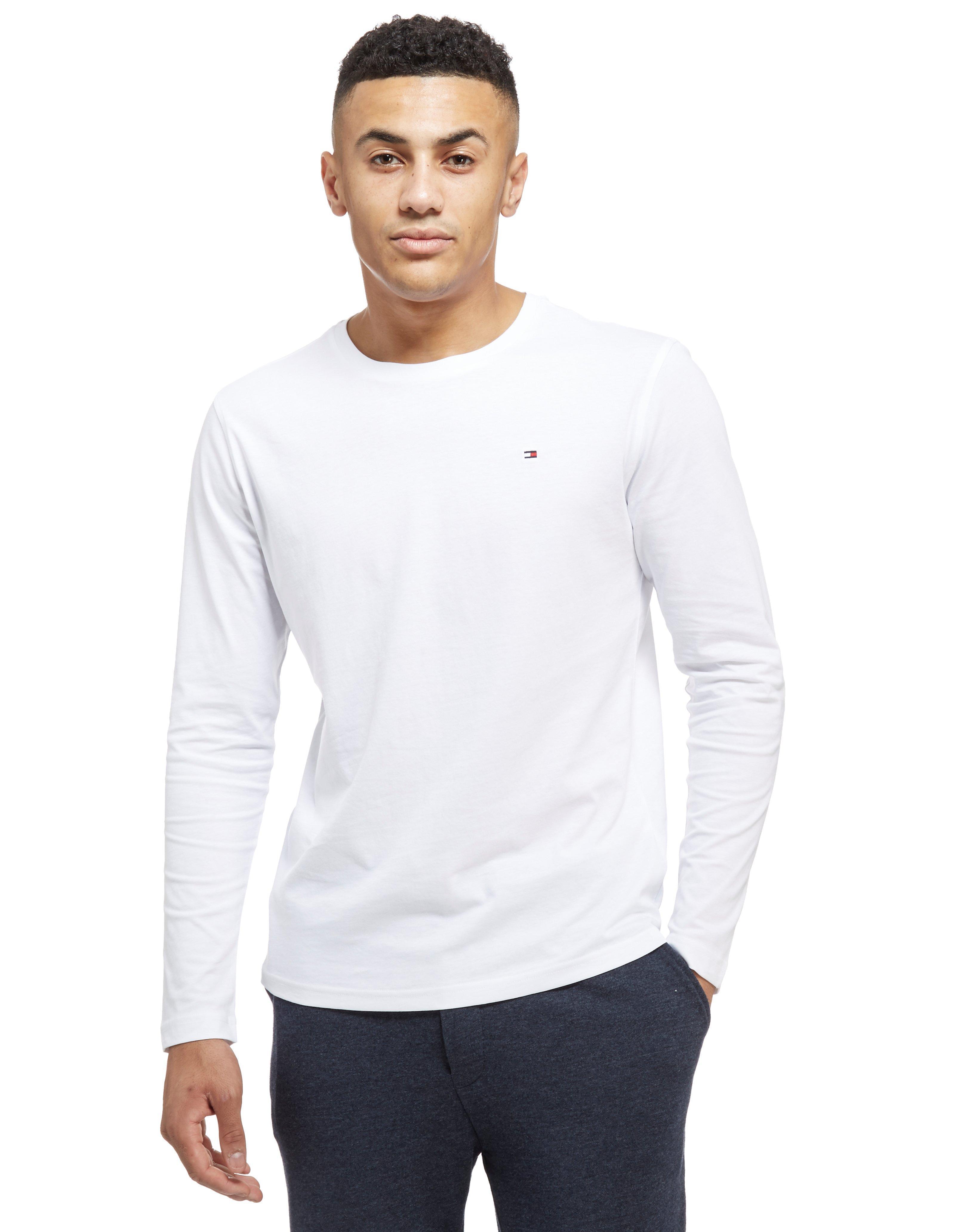 lyst tommy hilfiger longsleeve t shirt in white for men. Black Bedroom Furniture Sets. Home Design Ideas