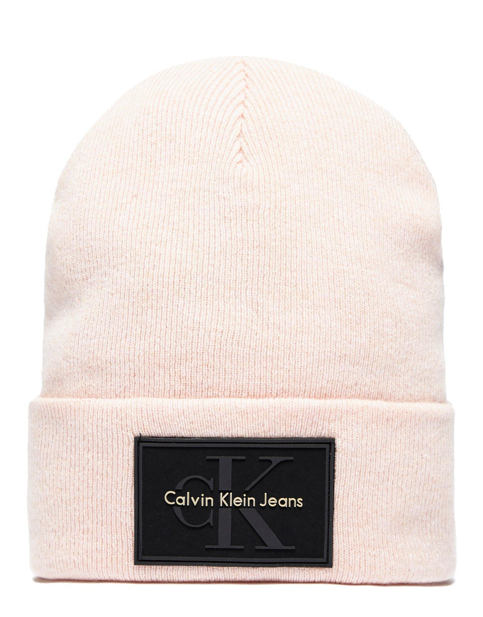 e18f16c278f Calvin Klein Re-issue Beanie in Pink for Men - Lyst
