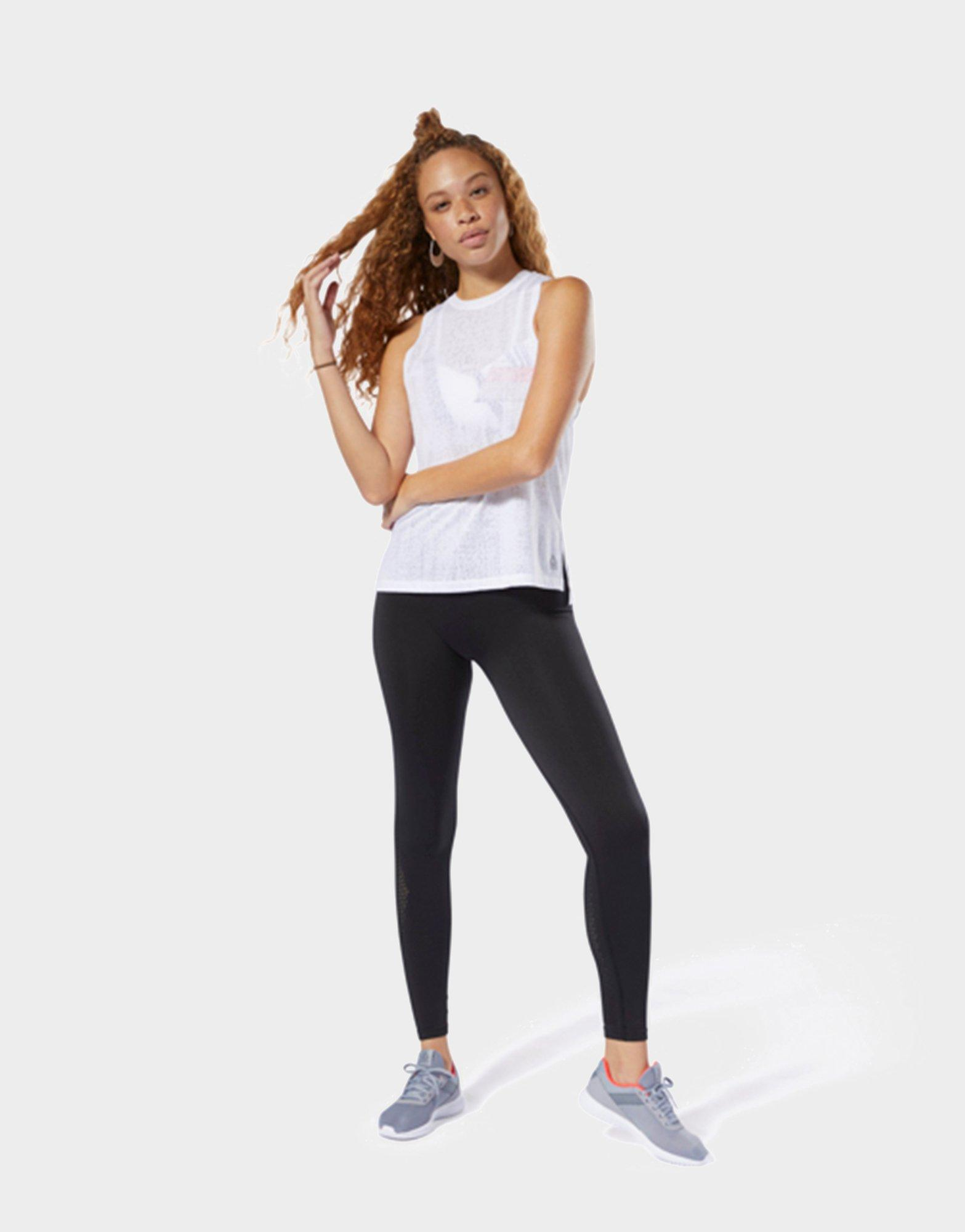 64e8c1e757c8a0 Reebok Burnout Tank Top in White - Lyst