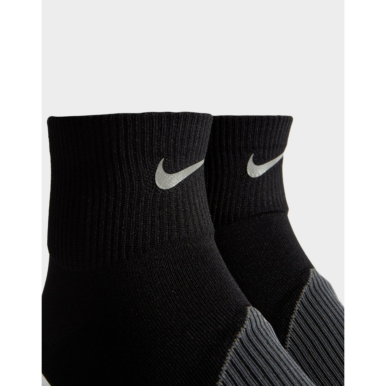 d617fce94 Nike - Black Running Elite Lightweight Quarter Socks for Men - Lyst. View  fullscreen