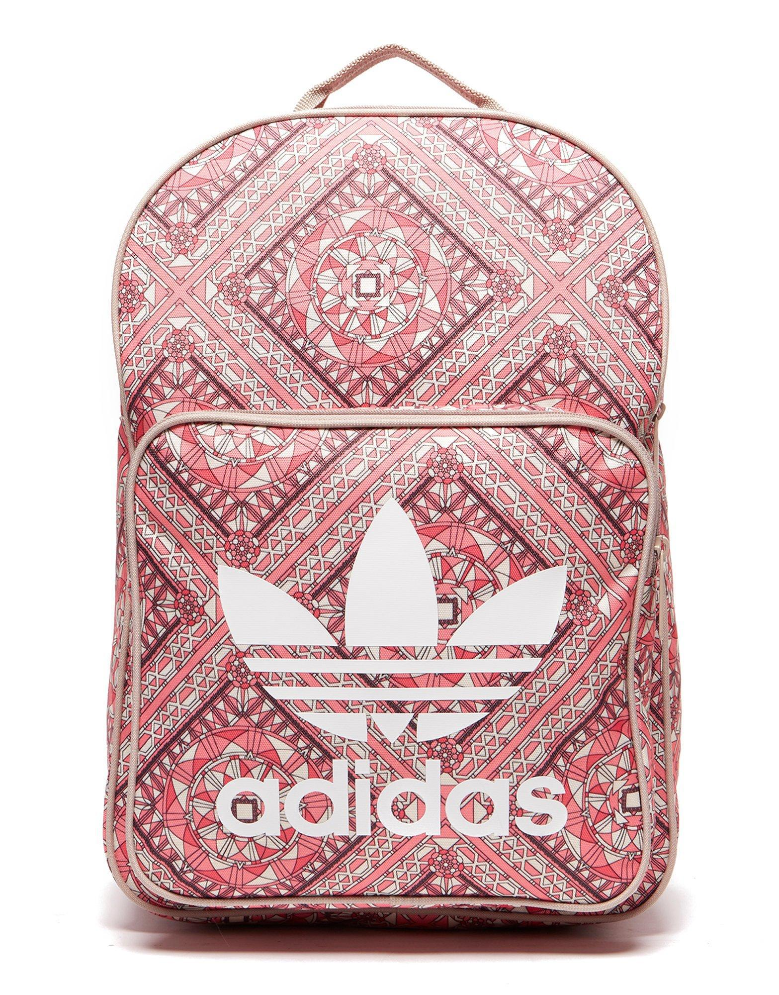 4c5b3b84c9a4 Lyst - adidas Originals Classic Print Backpack in Pink