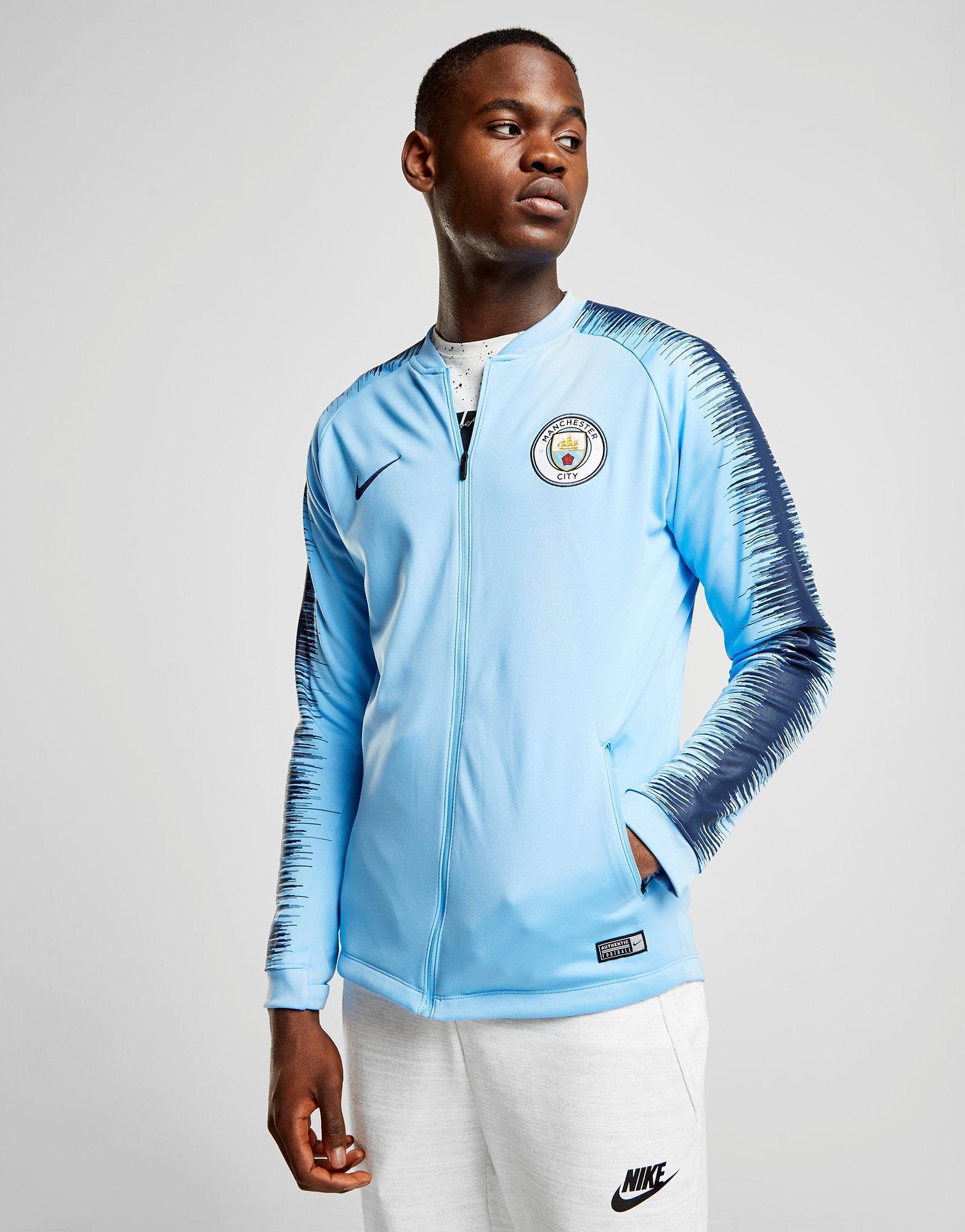 3cf28c1c54 nike manchester city fc anthem jacket in blue for men – lyst. Download  Image 1567 X 2000