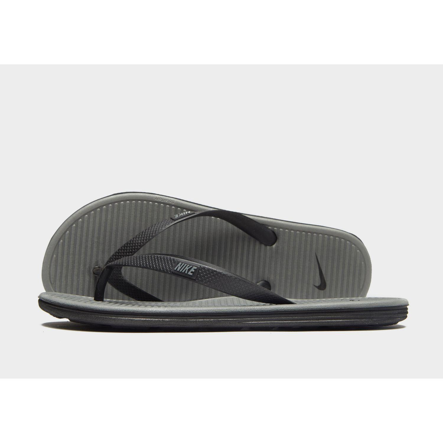 dac37907e81 Lyst - Nike Solarsoft Ii Flip Flops in Gray for Men