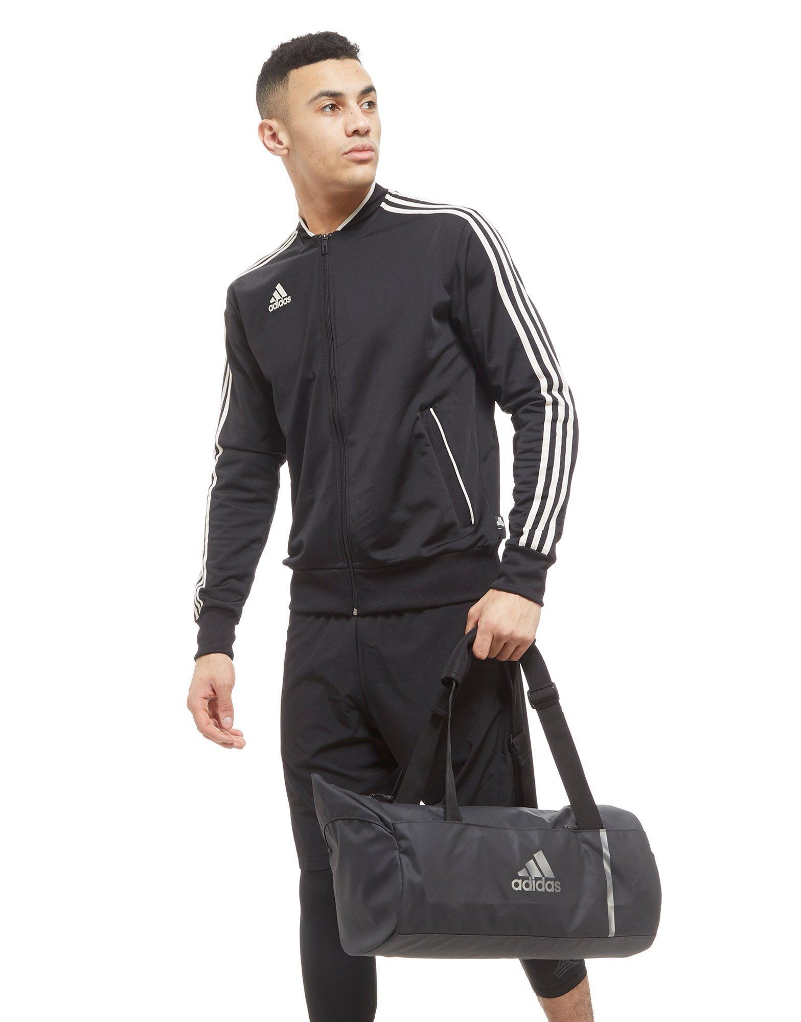 Lyst - adidas Convertible Training Duffle Bag Small in Gray for Men fa3496e026f32
